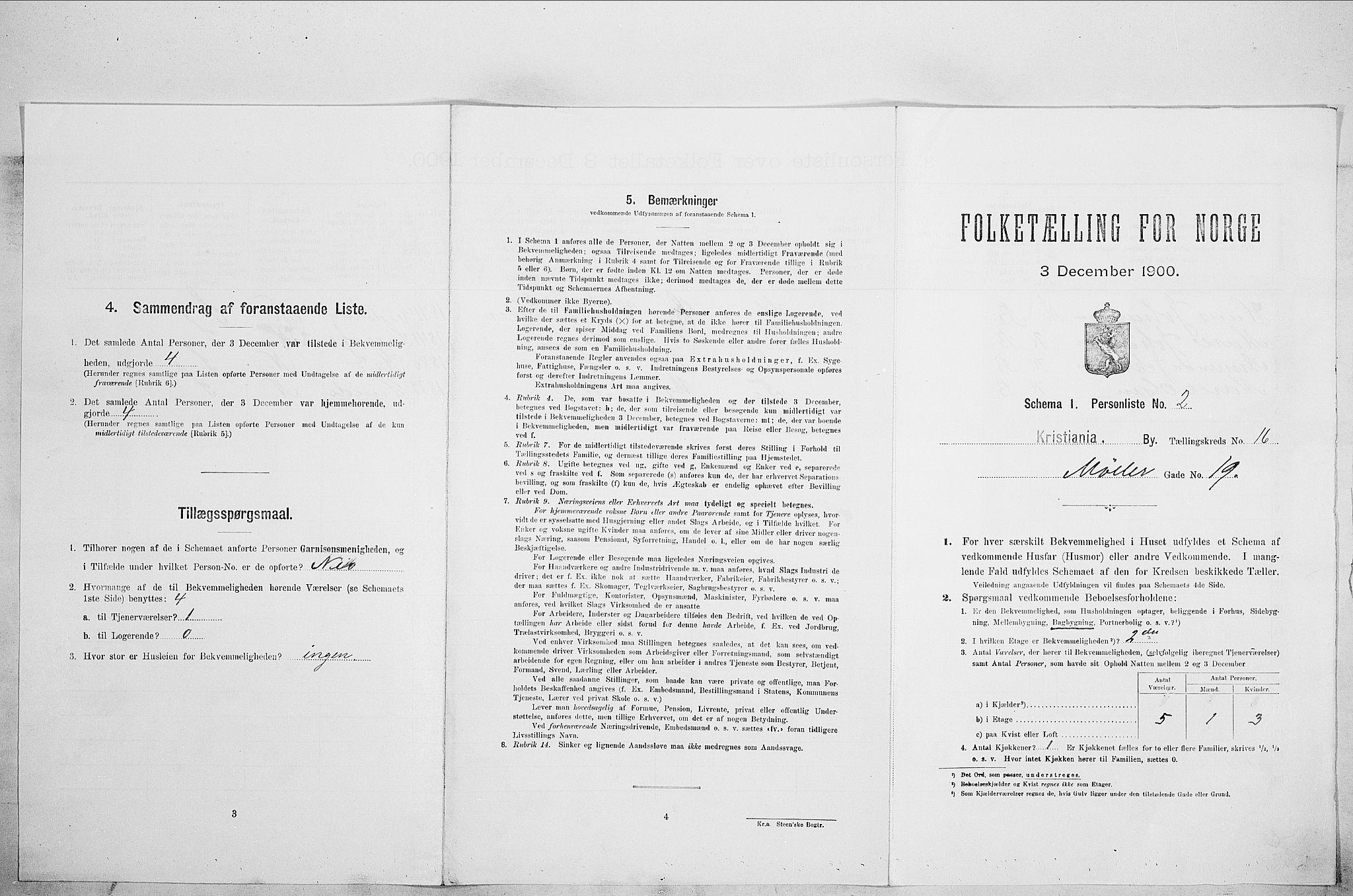 SAO, Folketelling 1900 for 0301 Kristiania kjøpstad, 1900, s. 62002