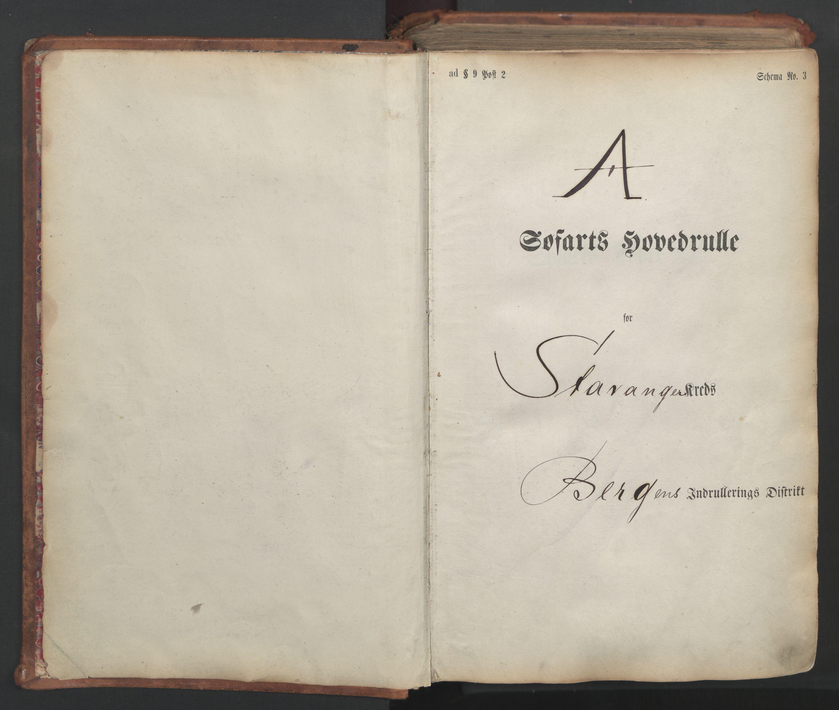 SAST, Stavanger sjømannskontor, F/Fb/Fbb/L0007: Sjøfartshovedrulle, patentnr. 2403-3604, 1869-1880, s. 3