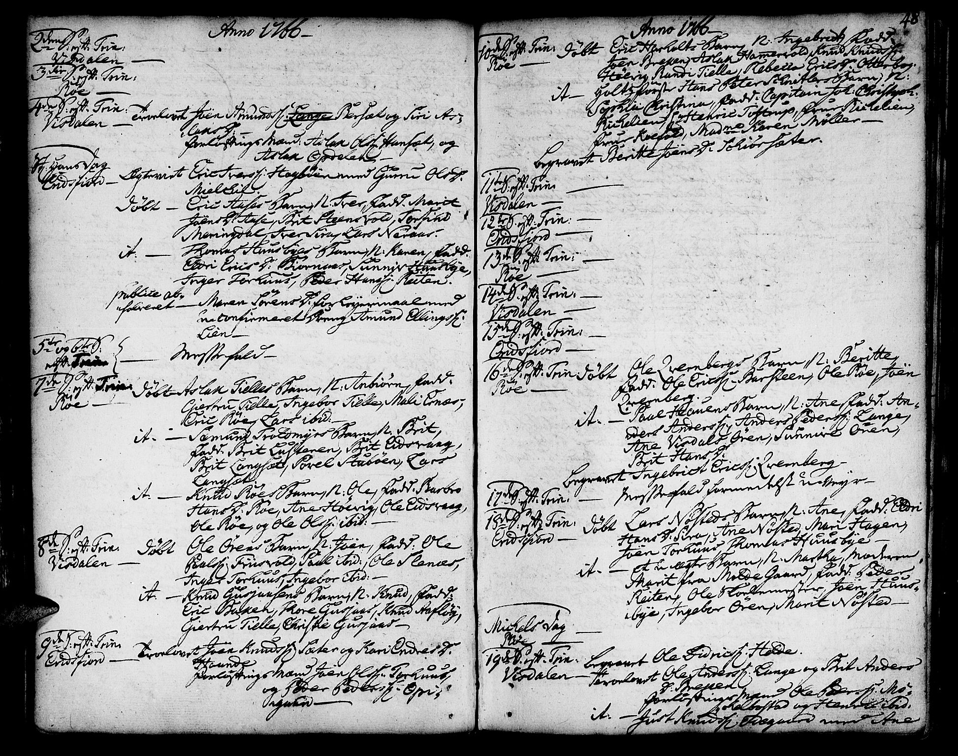 SAT, Ministerialprotokoller, klokkerbøker og fødselsregistre - Møre og Romsdal, 551/L0621: Ministerialbok nr. 551A01, 1757-1803, s. 48