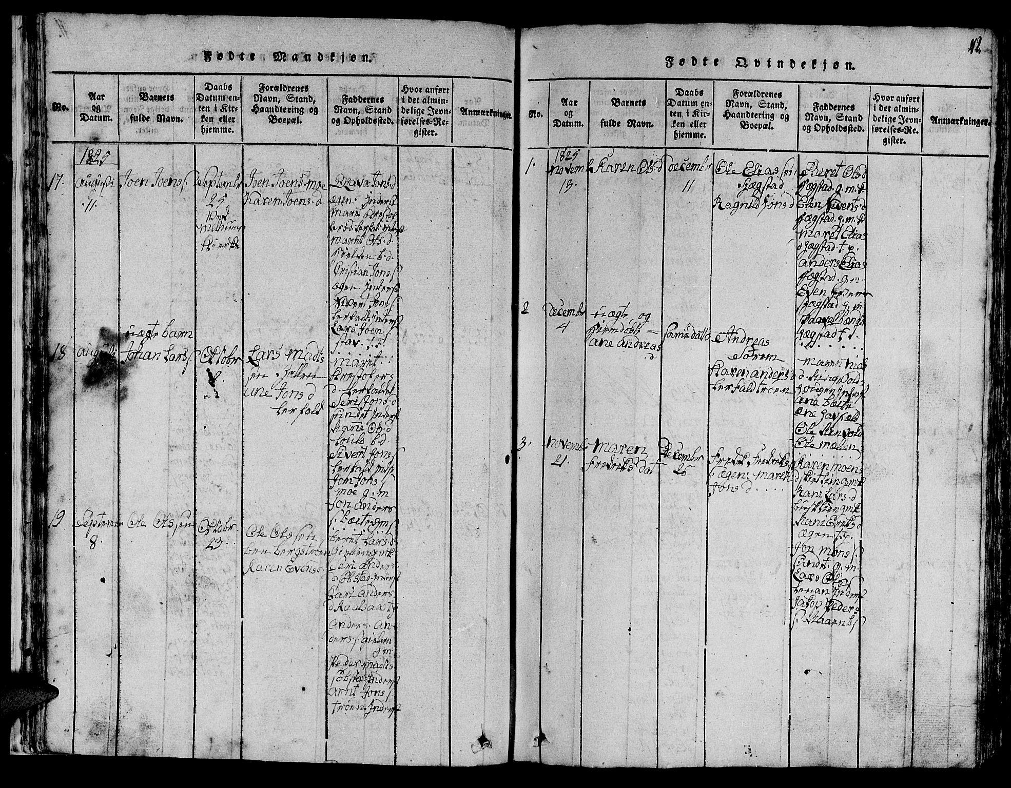 SAT, Ministerialprotokoller, klokkerbøker og fødselsregistre - Sør-Trøndelag, 613/L0393: Klokkerbok nr. 613C01, 1816-1886, s. 42