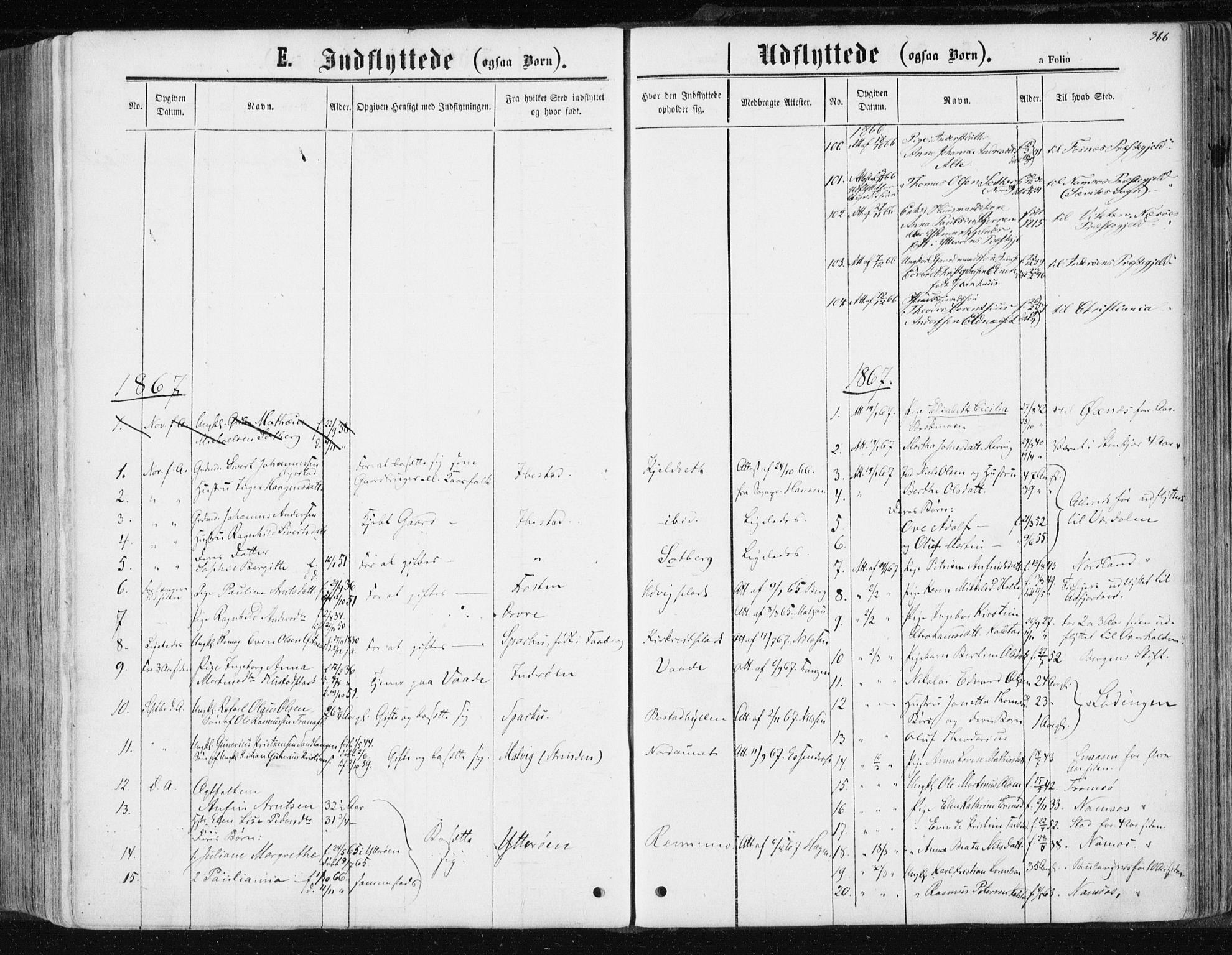 SAT, Ministerialprotokoller, klokkerbøker og fødselsregistre - Nord-Trøndelag, 741/L0394: Ministerialbok nr. 741A08, 1864-1877, s. 366