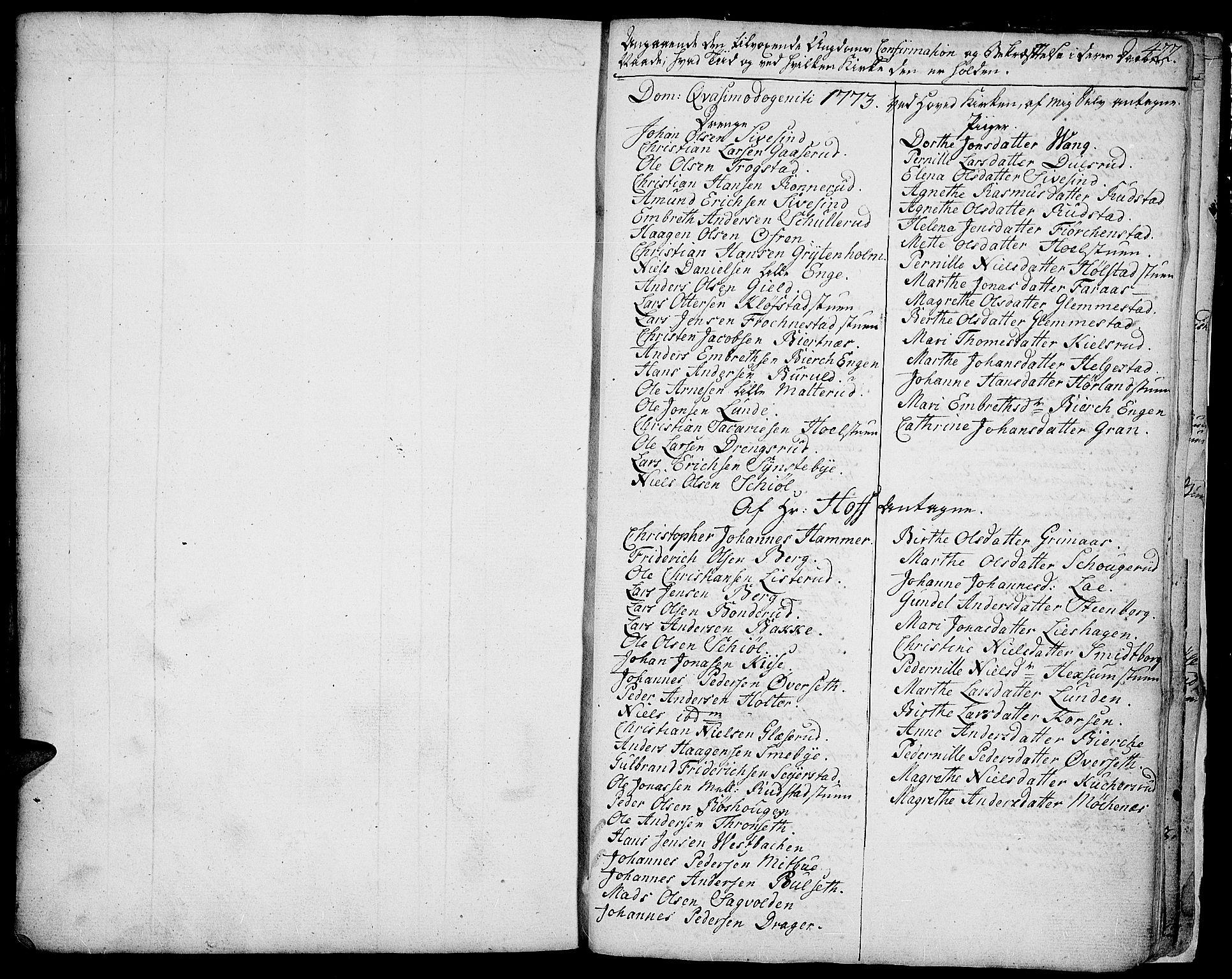 SAH, Toten prestekontor, Ministerialbok nr. 6, 1773-1793, s. 422