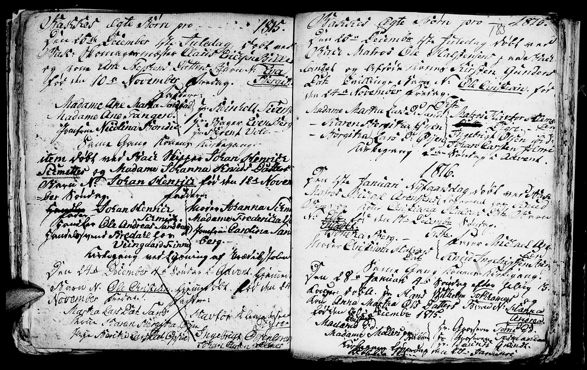 SAT, Ministerialprotokoller, klokkerbøker og fødselsregistre - Sør-Trøndelag, 604/L0218: Klokkerbok nr. 604C01, 1754-1819, s. 185