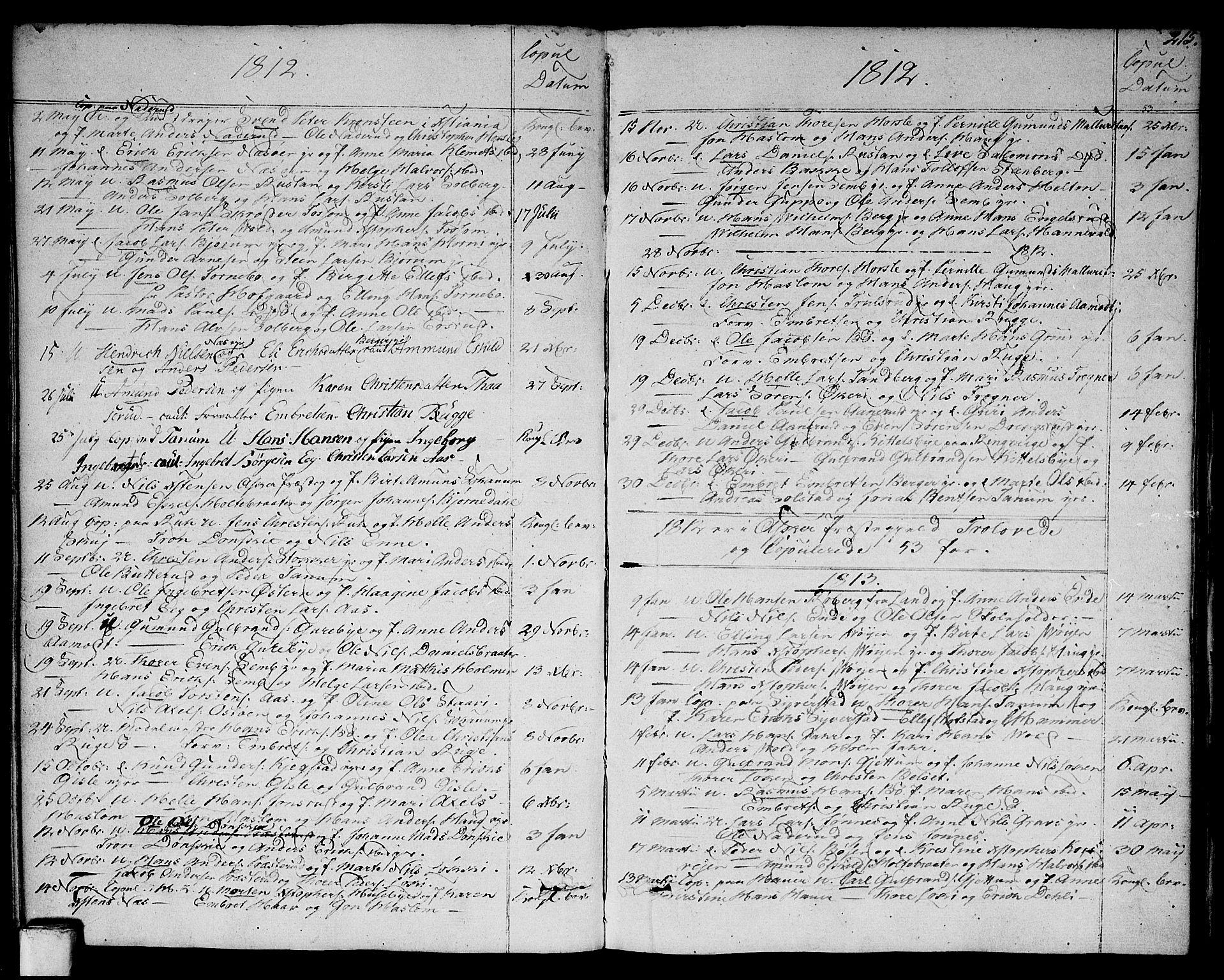 SAO, Asker prestekontor Kirkebøker, F/Fa/L0005: Ministerialbok nr. I 5, 1807-1813, s. 215