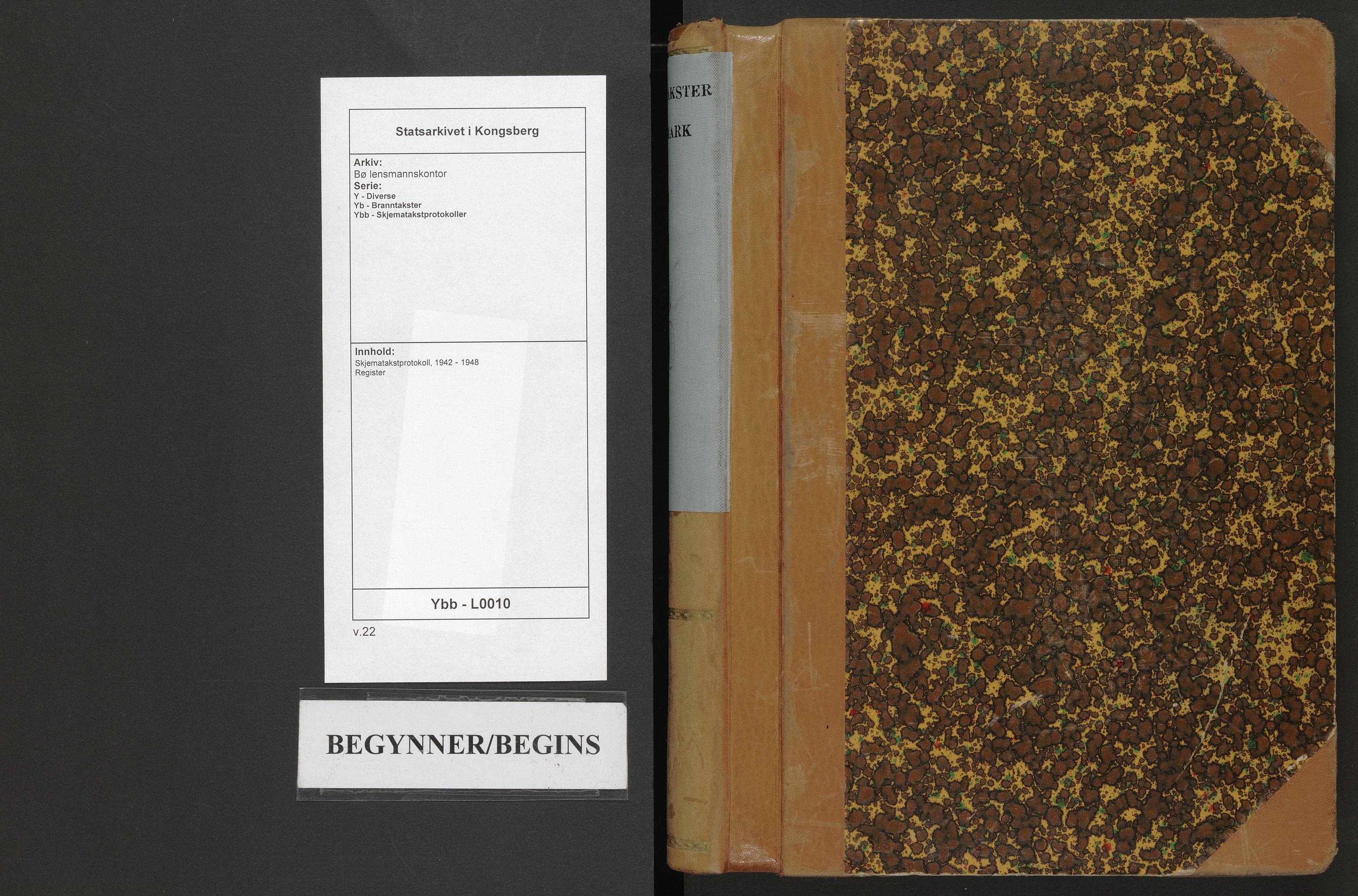 SAKO, Bø lensmannskontor, Y/Yb/Ybb/L0010: Skjematakstprotokoll, 1942-1948