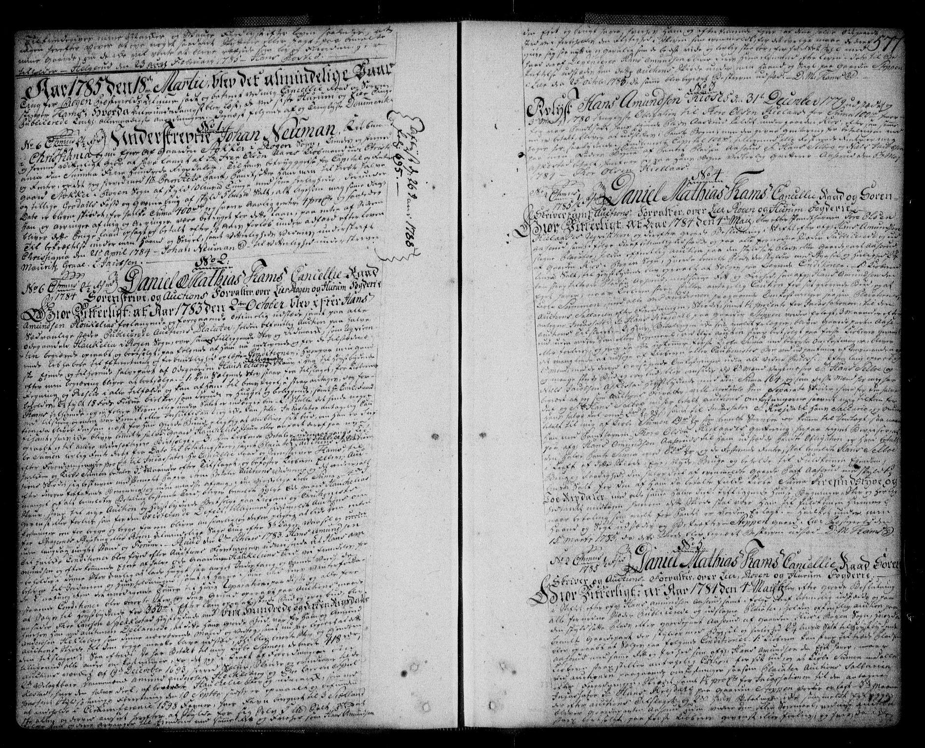 SAKO, Lier, Røyken og Hurum sorenskriveri, G/Ga/Gaa/L0004b: Pantebok nr. IVb, 1779-1788, s. 577