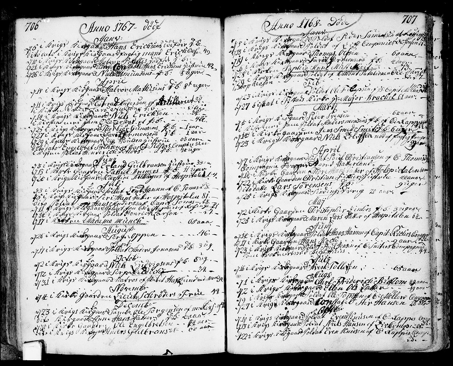 SAO, Fredrikstad prestekontor Kirkebøker, F/Fa/L0002: Ministerialbok nr. 2, 1750-1804, s. 706-707