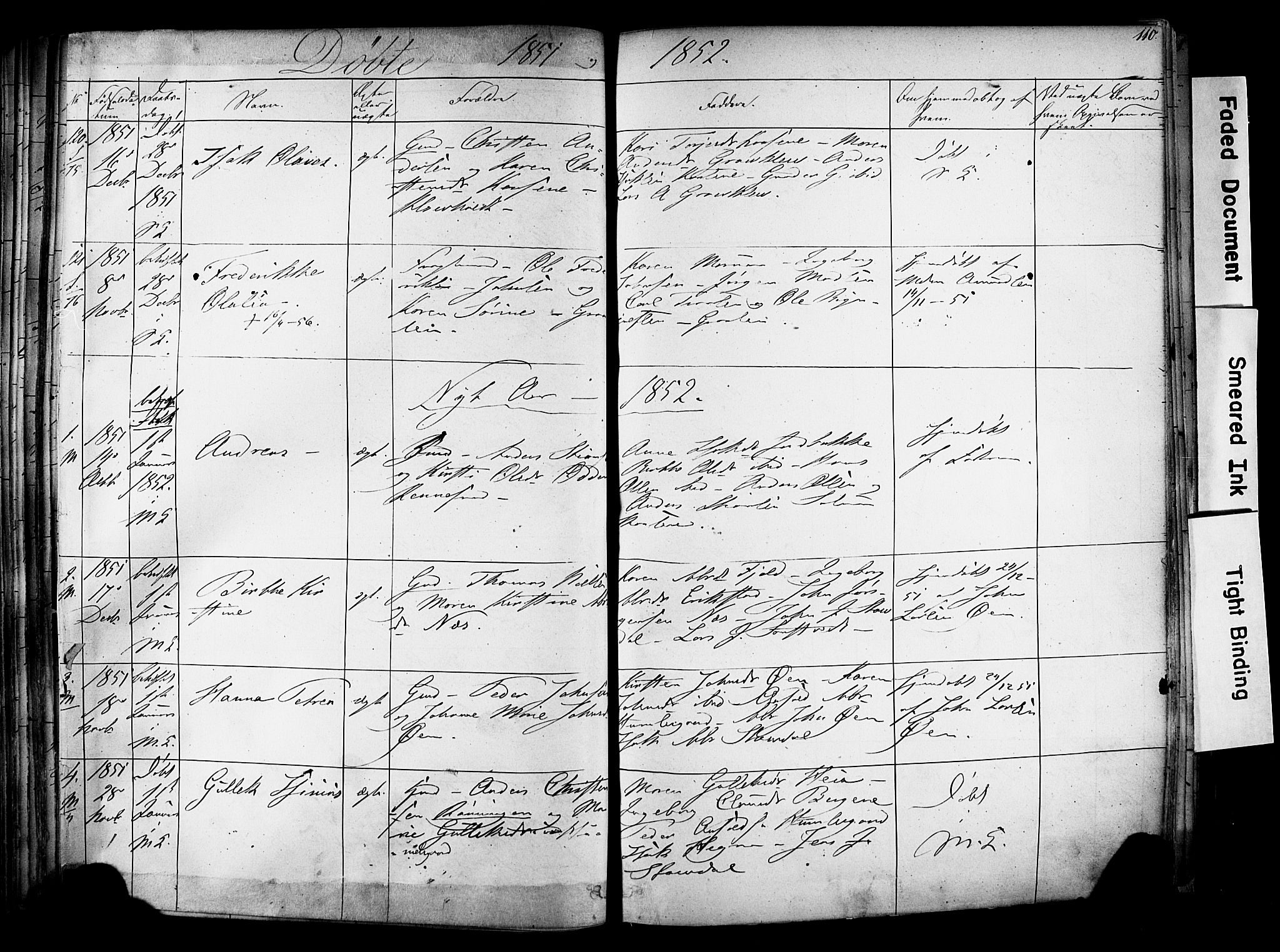SAKO, Solum kirkebøker, F/Fa/L0006: Ministerialbok nr. I 6, 1844-1855, s. 110