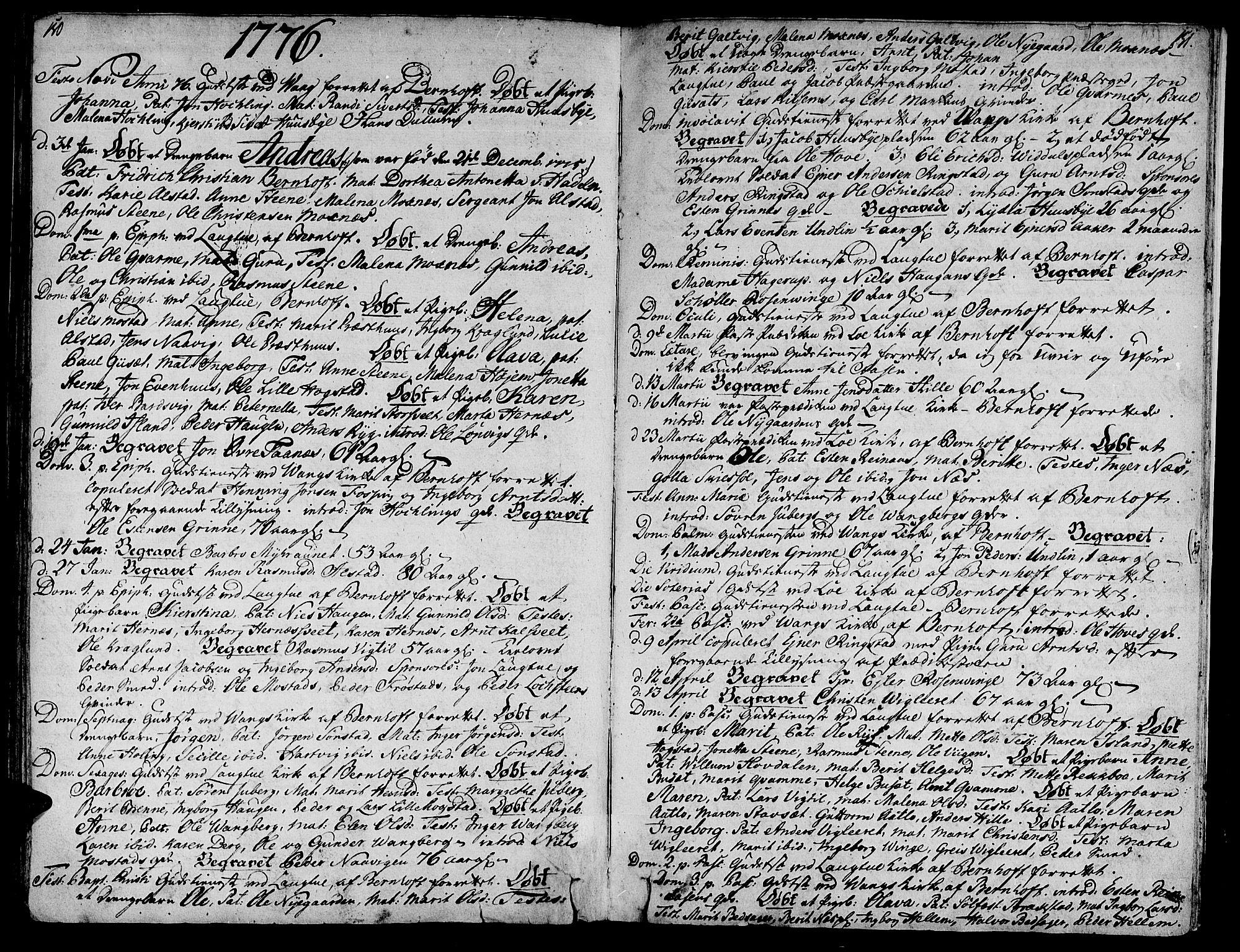 SAT, Ministerialprotokoller, klokkerbøker og fødselsregistre - Nord-Trøndelag, 713/L0109: Ministerialbok nr. 713A01, 1750-1778, s. 150-151