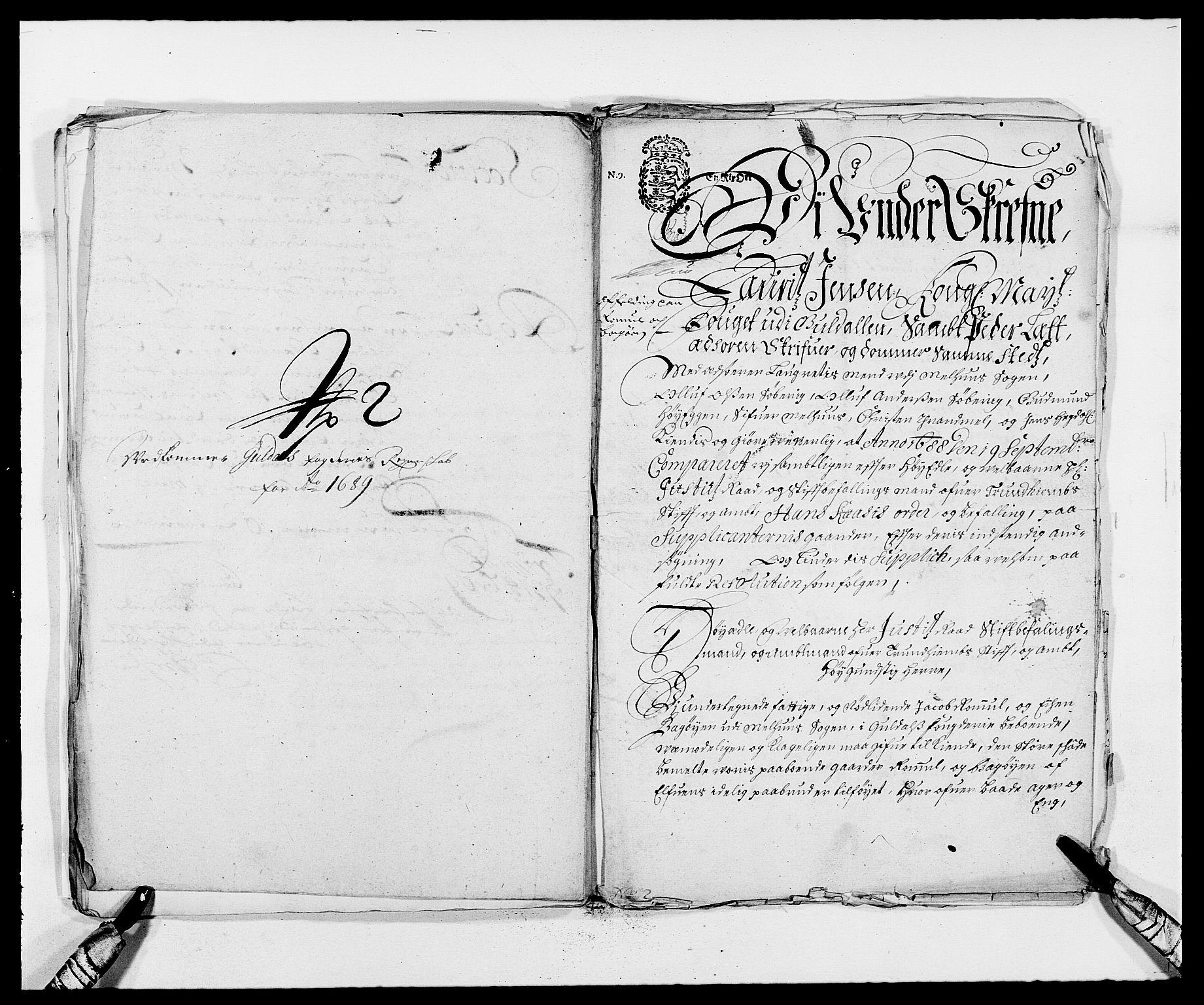 RA, Rentekammeret inntil 1814, Reviderte regnskaper, Fogderegnskap, R59/L3940: Fogderegnskap Gauldal, 1689-1690, s. 169