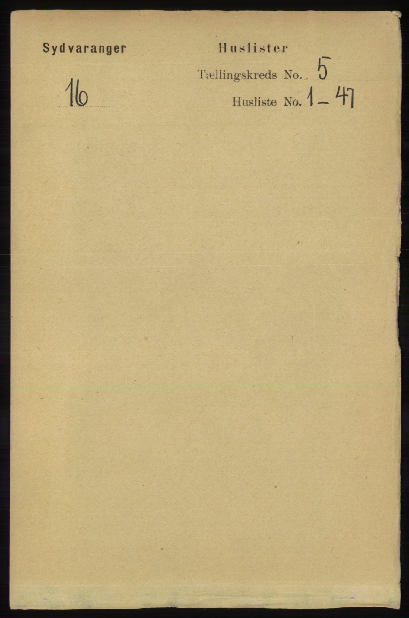 RA, Folketelling 1891 for 2030 Sør-Varanger herred, 1891, s. 1519