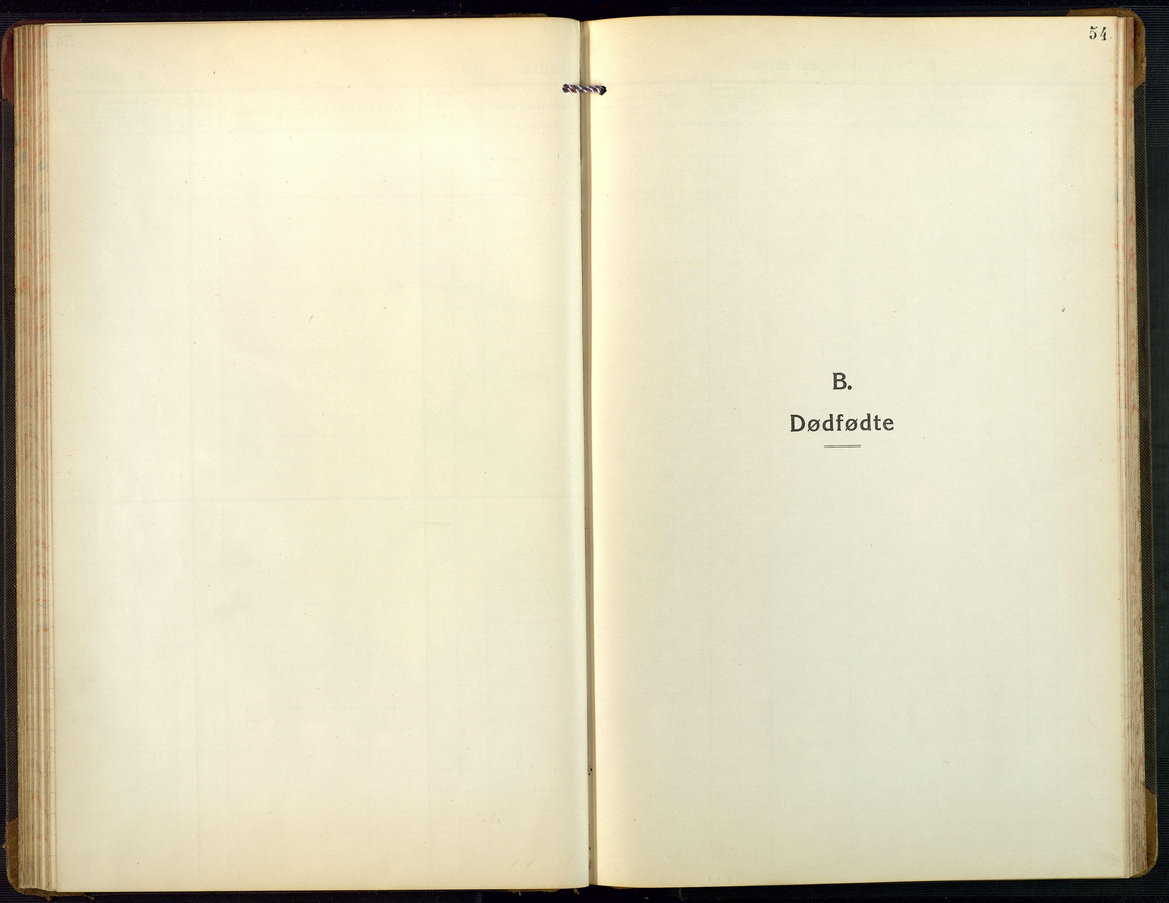 SAK, Bygland sokneprestkontor, F/Fb/Fbb/L0005: Klokkerbok nr. B 5, 1920-1955, s. 54