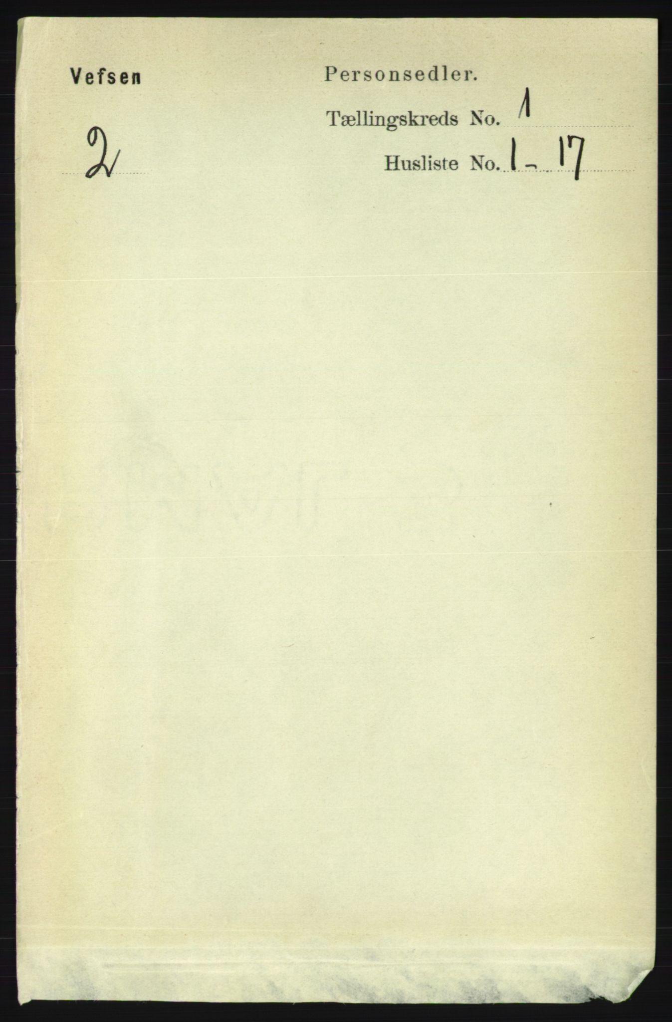 RA, Folketelling 1891 for 1824 Vefsn herred, 1891, s. 95