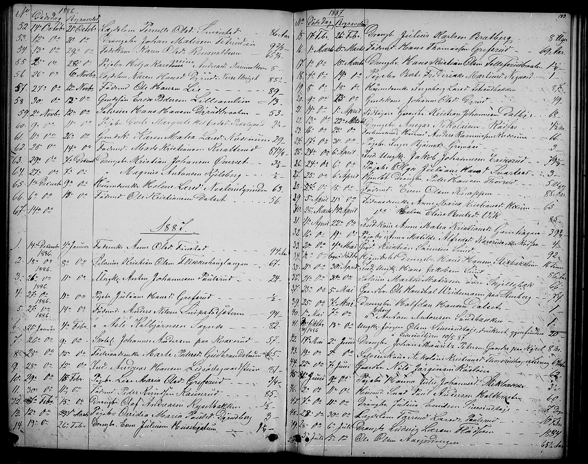 SAH, Vestre Toten prestekontor, H/Ha/Hab/L0006: Klokkerbok nr. 6, 1870-1887, s. 183