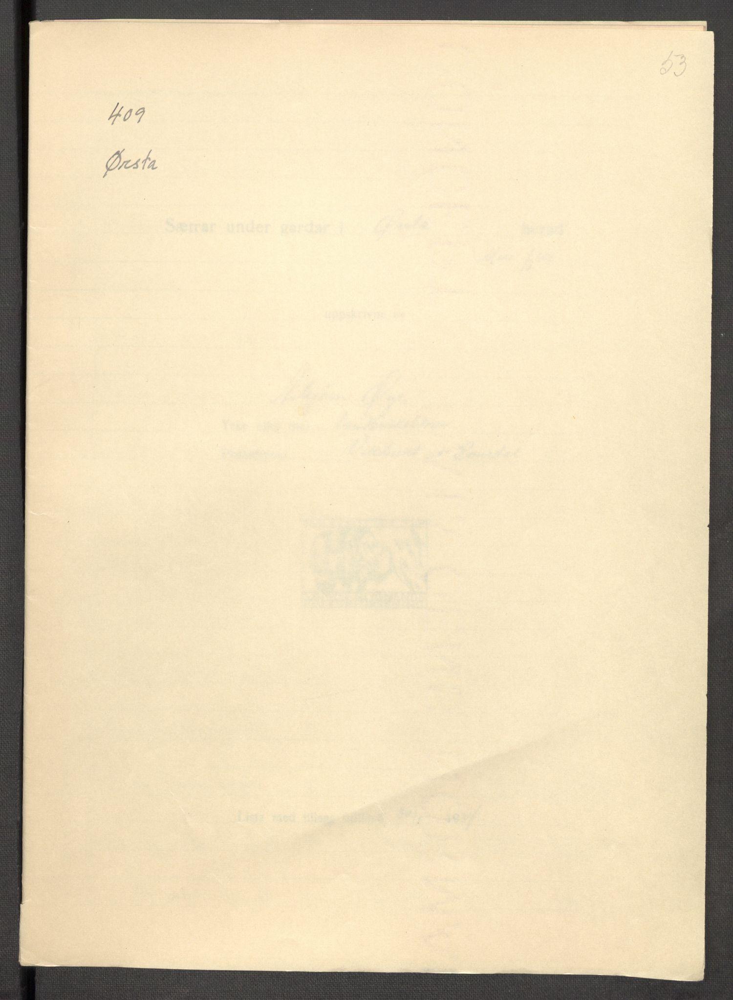 RA, Instituttet for sammenlignende kulturforskning, F/Fc/L0012: Eske B12:, 1934-1936, s. 53