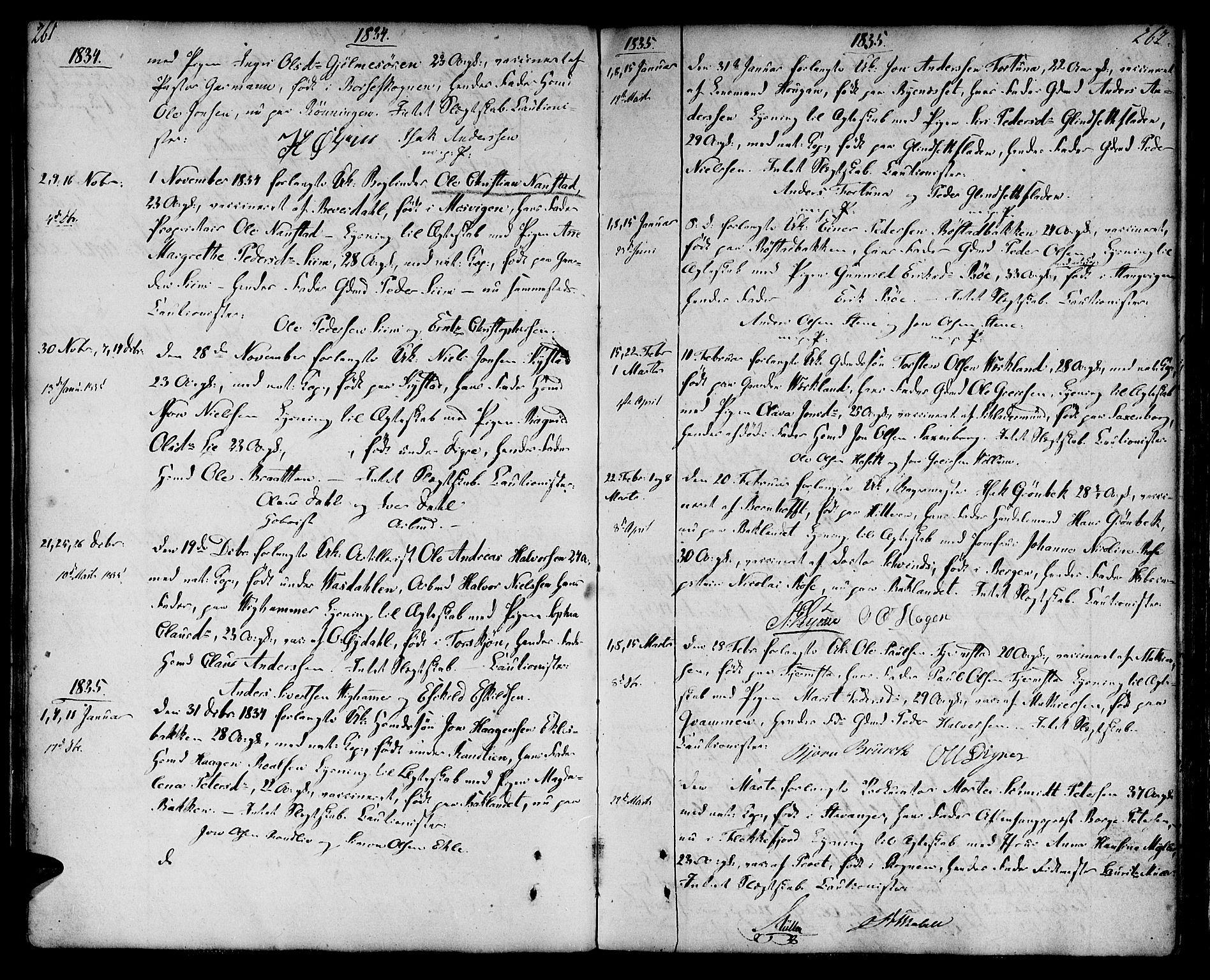 SAT, Ministerialprotokoller, klokkerbøker og fødselsregistre - Sør-Trøndelag, 604/L0181: Ministerialbok nr. 604A02, 1798-1817, s. 261-262