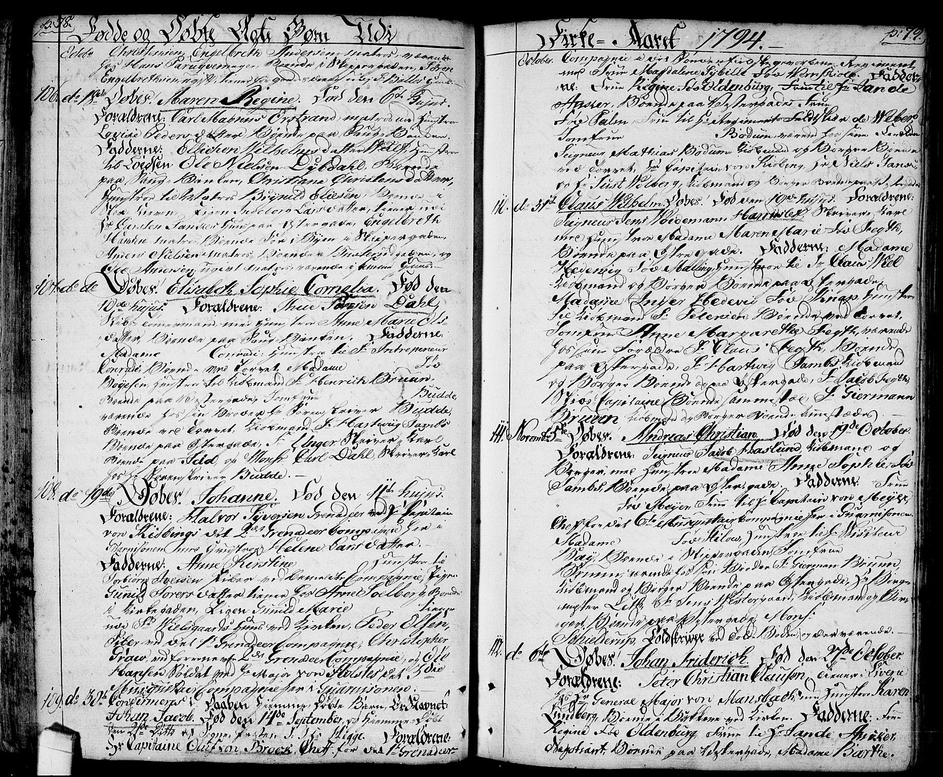 SAO, Halden prestekontor Kirkebøker, F/Fa/L0002: Ministerialbok nr. I 2, 1792-1812, s. 78-79