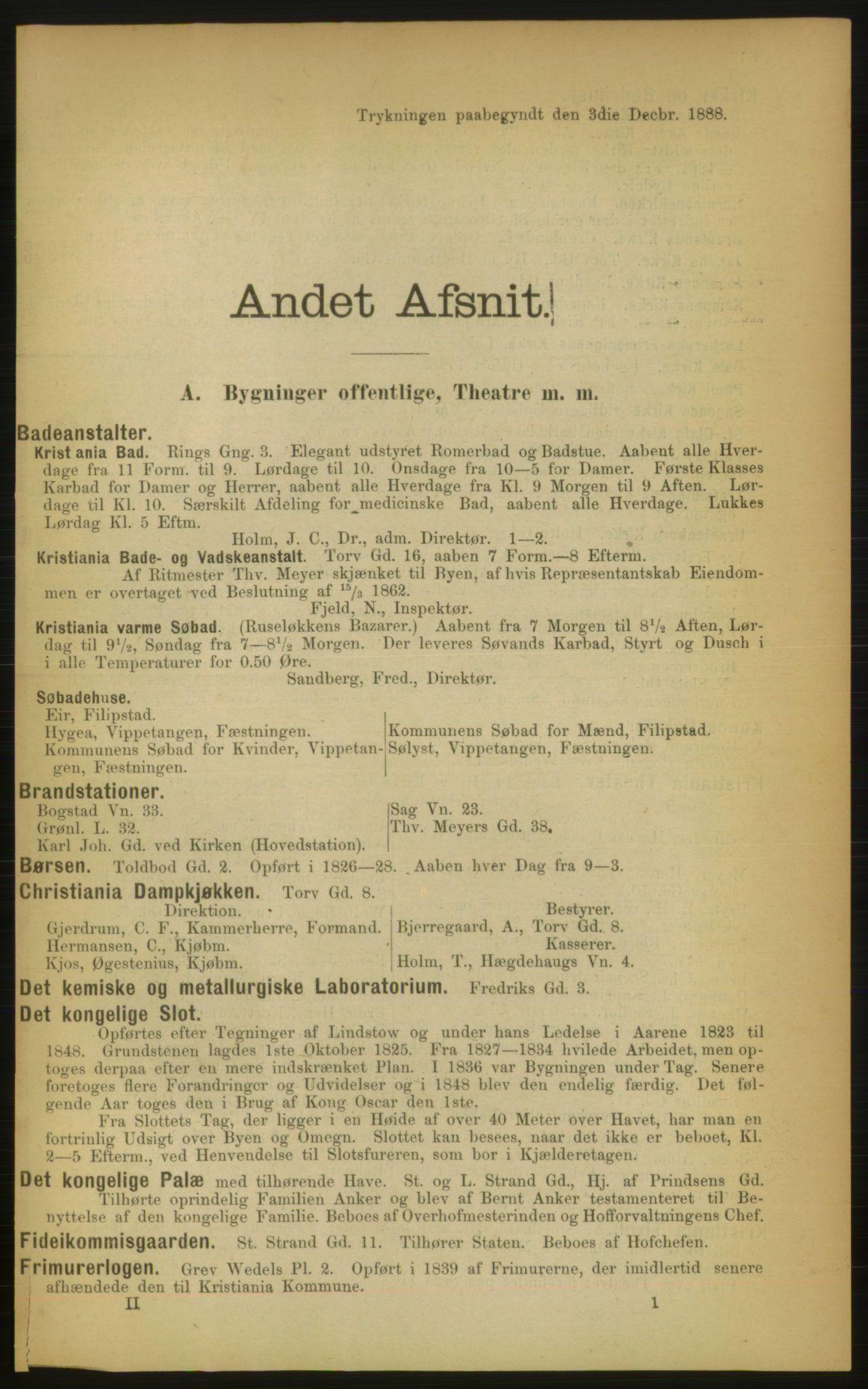 RA, Kristiania adressebok (publikasjon)*, 1889, s. 65