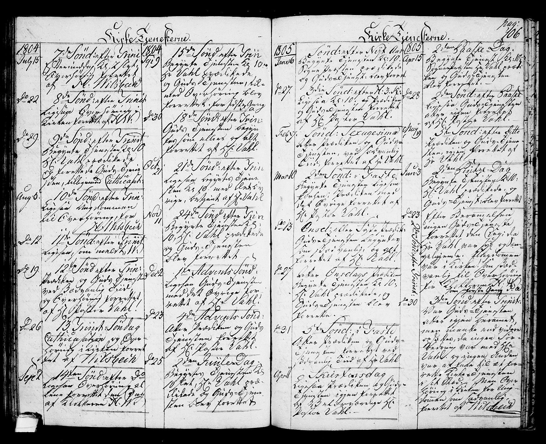 SAKO, Langesund kirkebøker, G/Ga/L0002: Klokkerbok nr. 2, 1801-1815, s. 106
