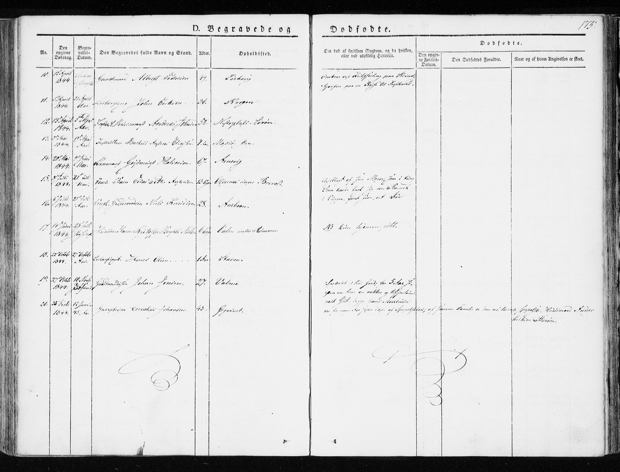 SAT, Ministerialprotokoller, klokkerbøker og fødselsregistre - Sør-Trøndelag, 655/L0676: Ministerialbok nr. 655A05, 1830-1847, s. 175