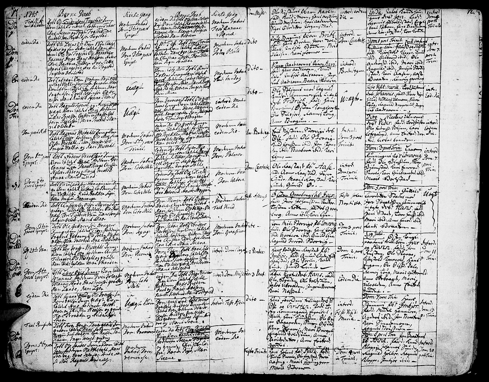 SAH, Vågå prestekontor, Ministerialbok nr. 1, 1739-1810, s. 12