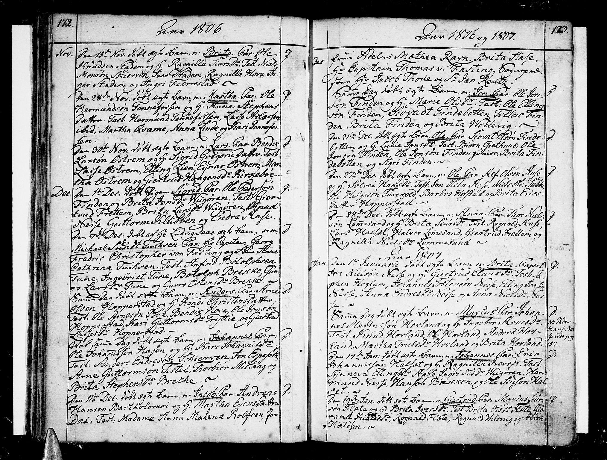 SAB, Vik Sokneprestembete, Ministerialbok nr. A 5, 1787-1820, s. 172-173