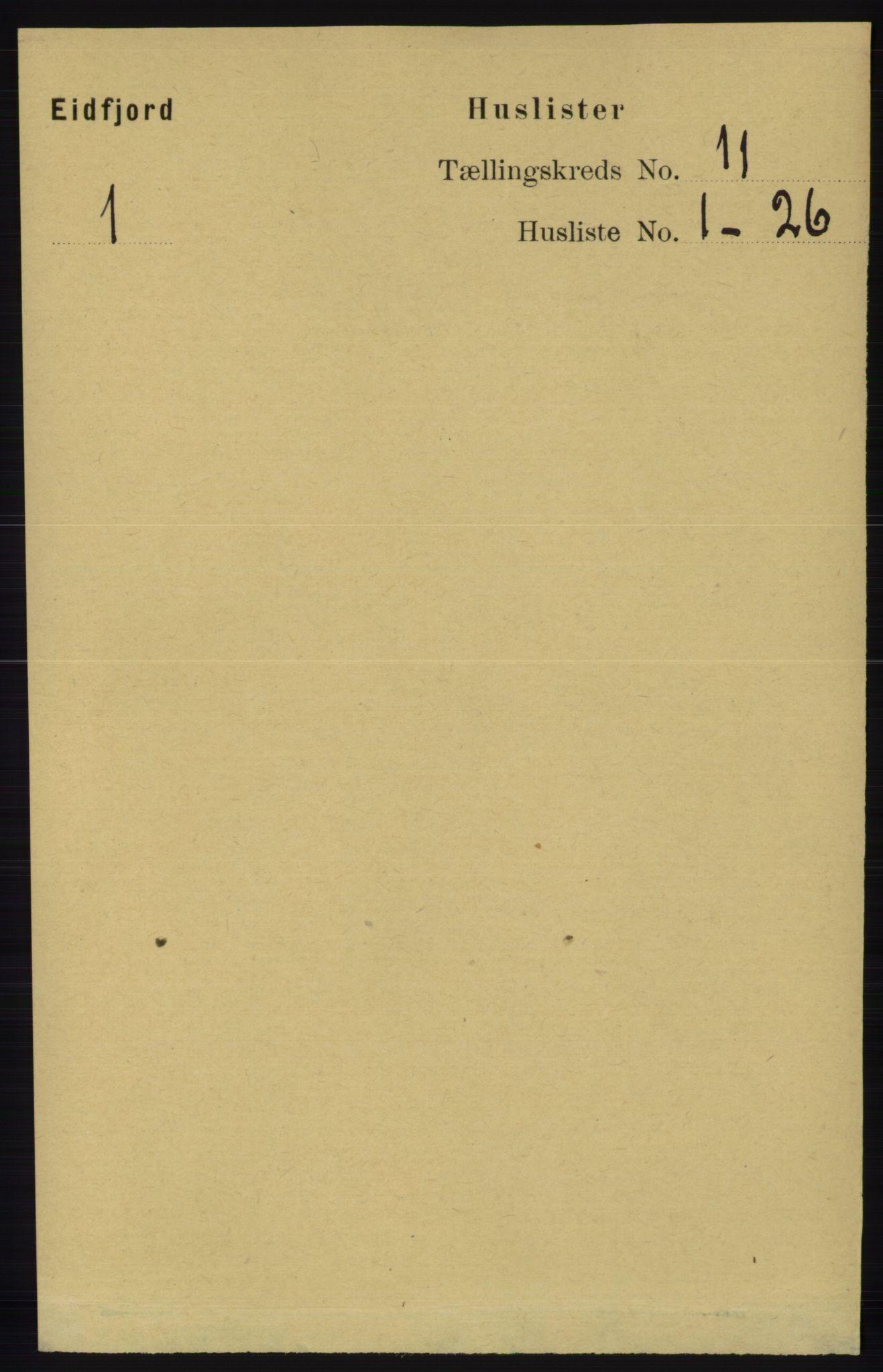 RA, Folketelling 1891 for 1233 Ulvik herred, 1891, s. 3439