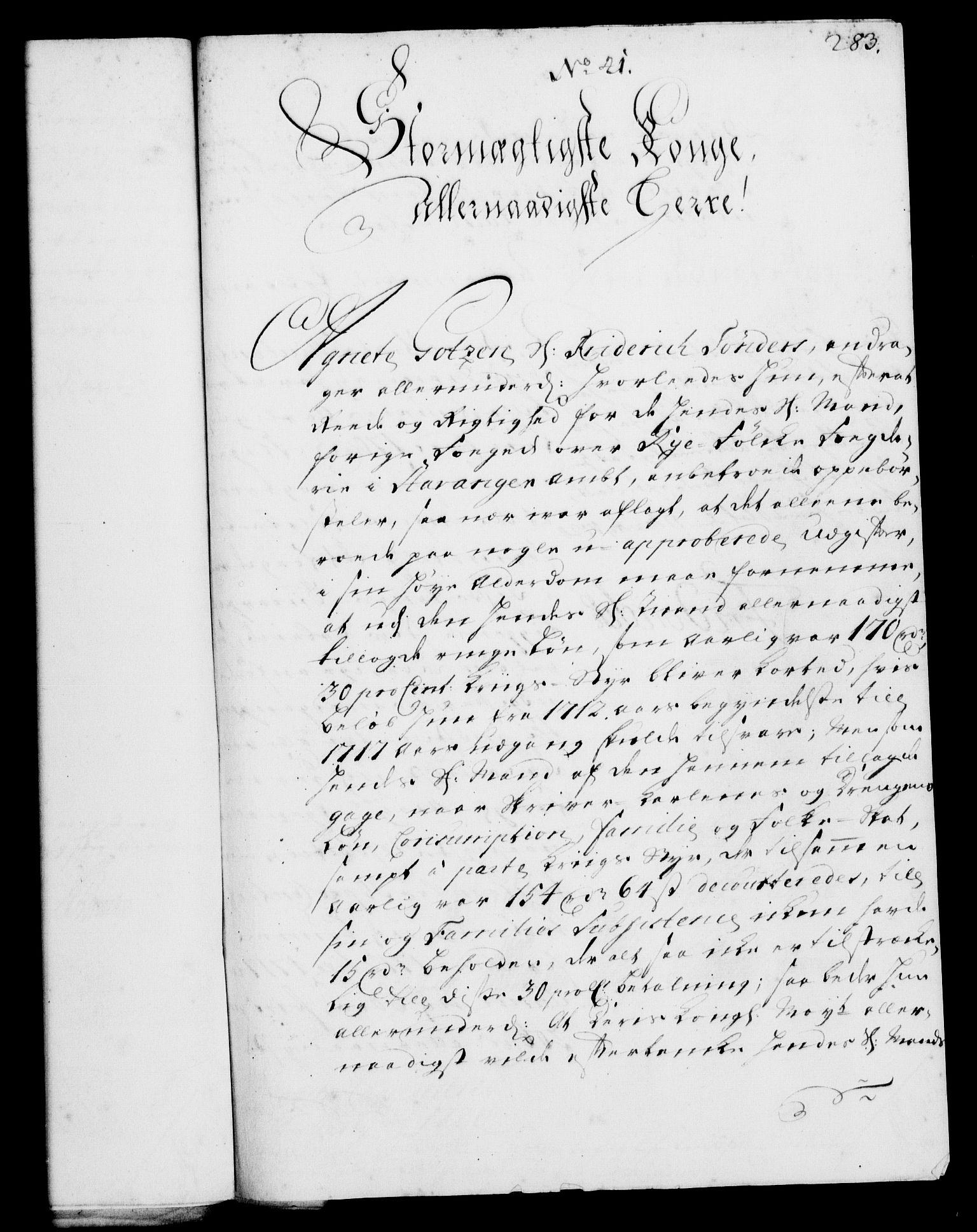 RA, Rentekammeret, Kammerkanselliet, G/Gf/Gfa/L0002: Norsk relasjons- og resolusjonsprotokoll (merket RK 52.2), 1720, s. 283