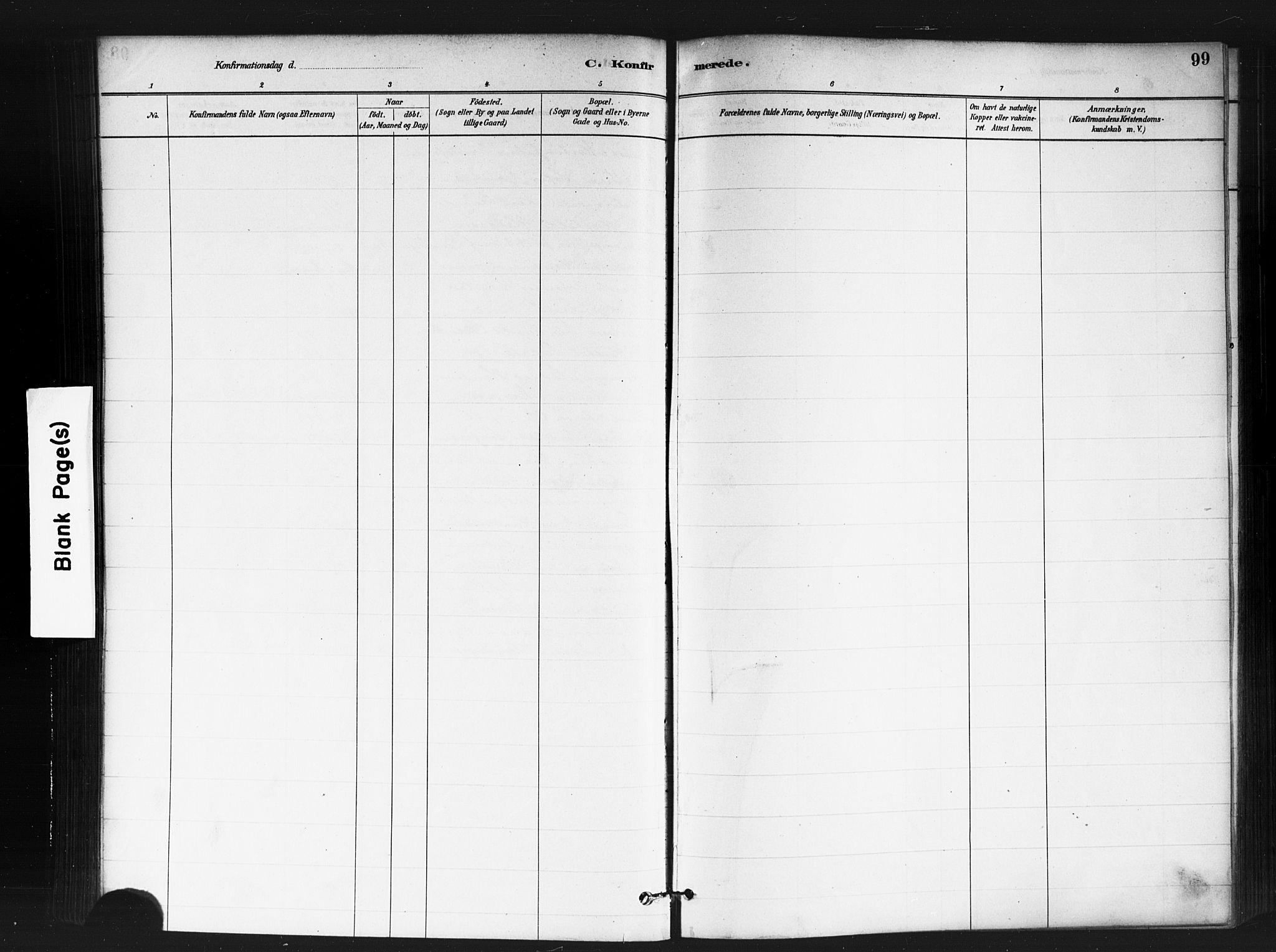 SAO, Jakob prestekontor Kirkebøker, F/Fa/L0004: Ministerialbok nr. 4, 1880-1894, s. 99