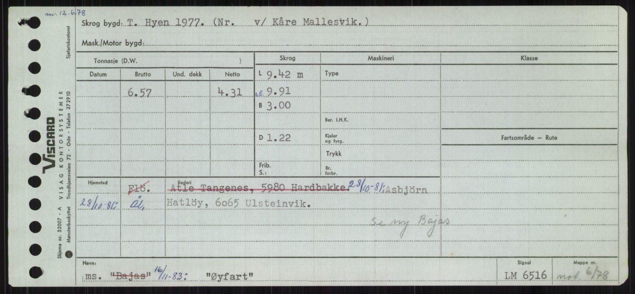 RA, Sjøfartsdirektoratet med forløpere, Skipsmålingen, H/Ha/L0006: Fartøy, Sver-Å, s. 814
