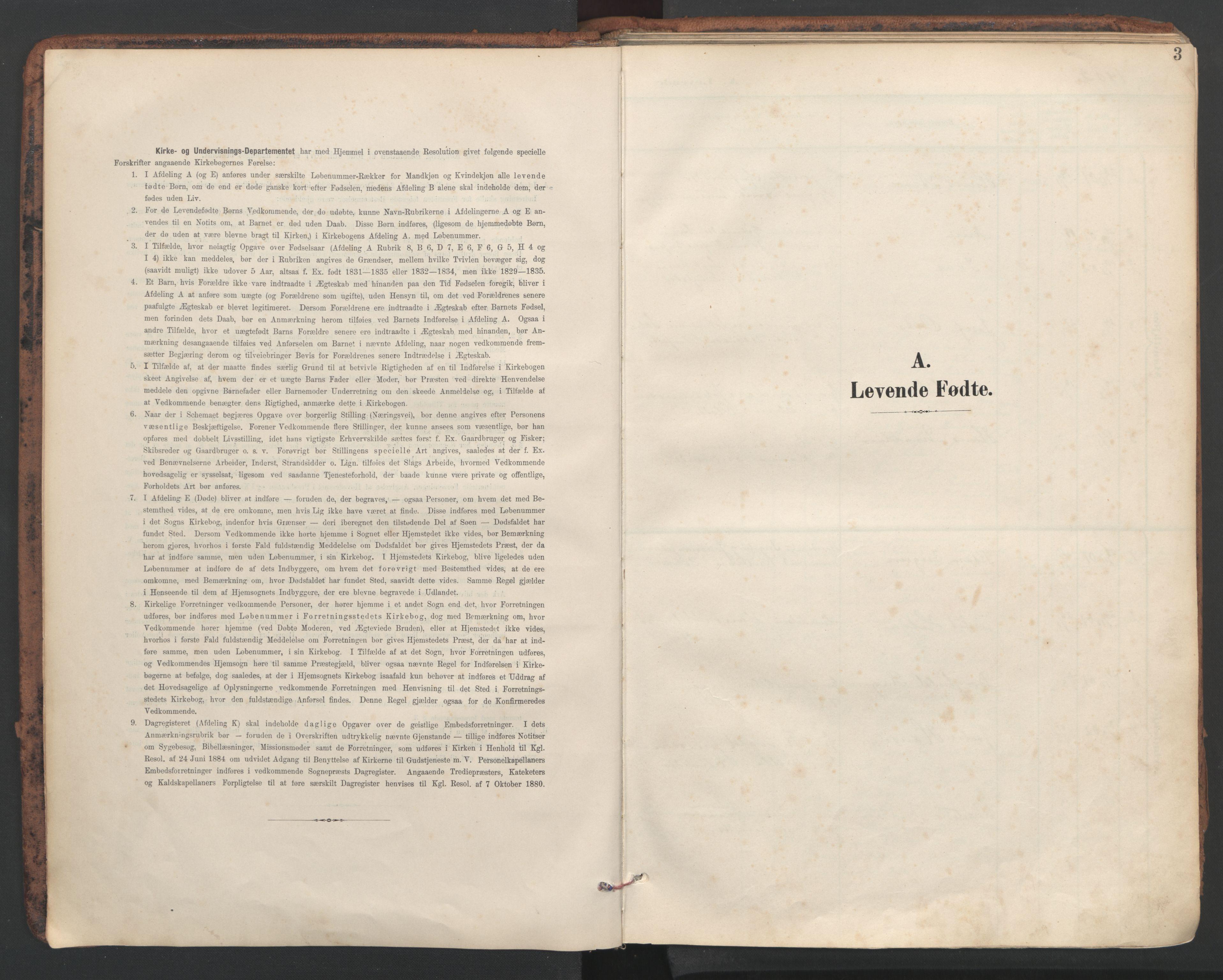 SAT, Ministerialprotokoller, klokkerbøker og fødselsregistre - Sør-Trøndelag, 634/L0537: Ministerialbok nr. 634A13, 1896-1922, s. 3