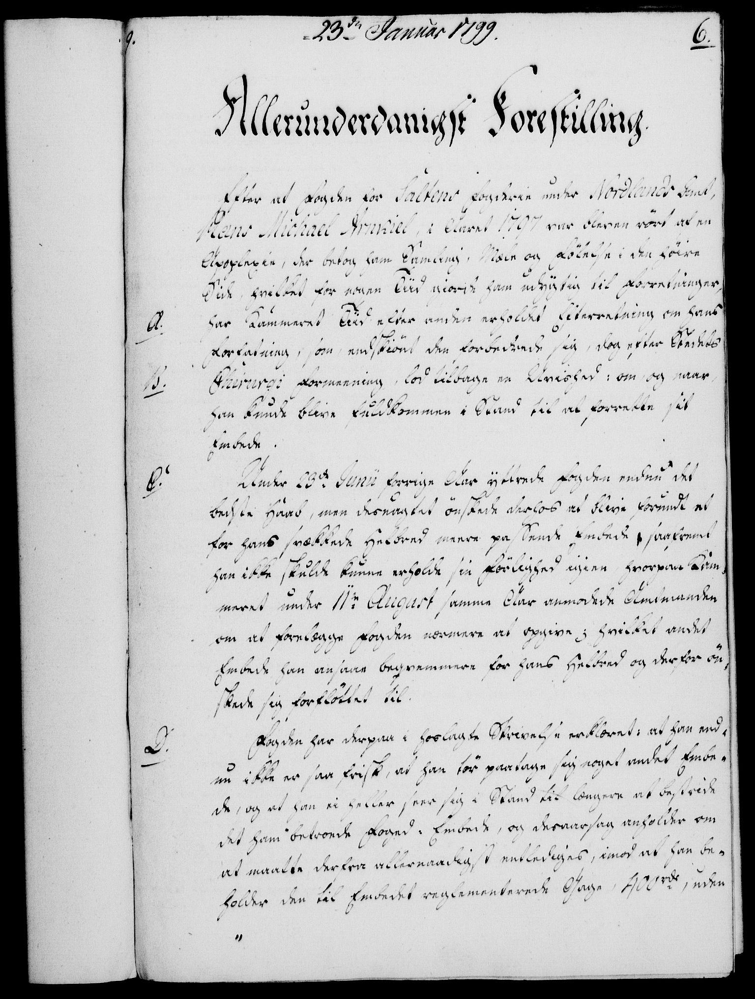 RA, Rentekammeret, Kammerkanselliet, G/Gf/Gfa/L0081: Norsk relasjons- og resolusjonsprotokoll (merket RK 52.81), 1799, s. 65