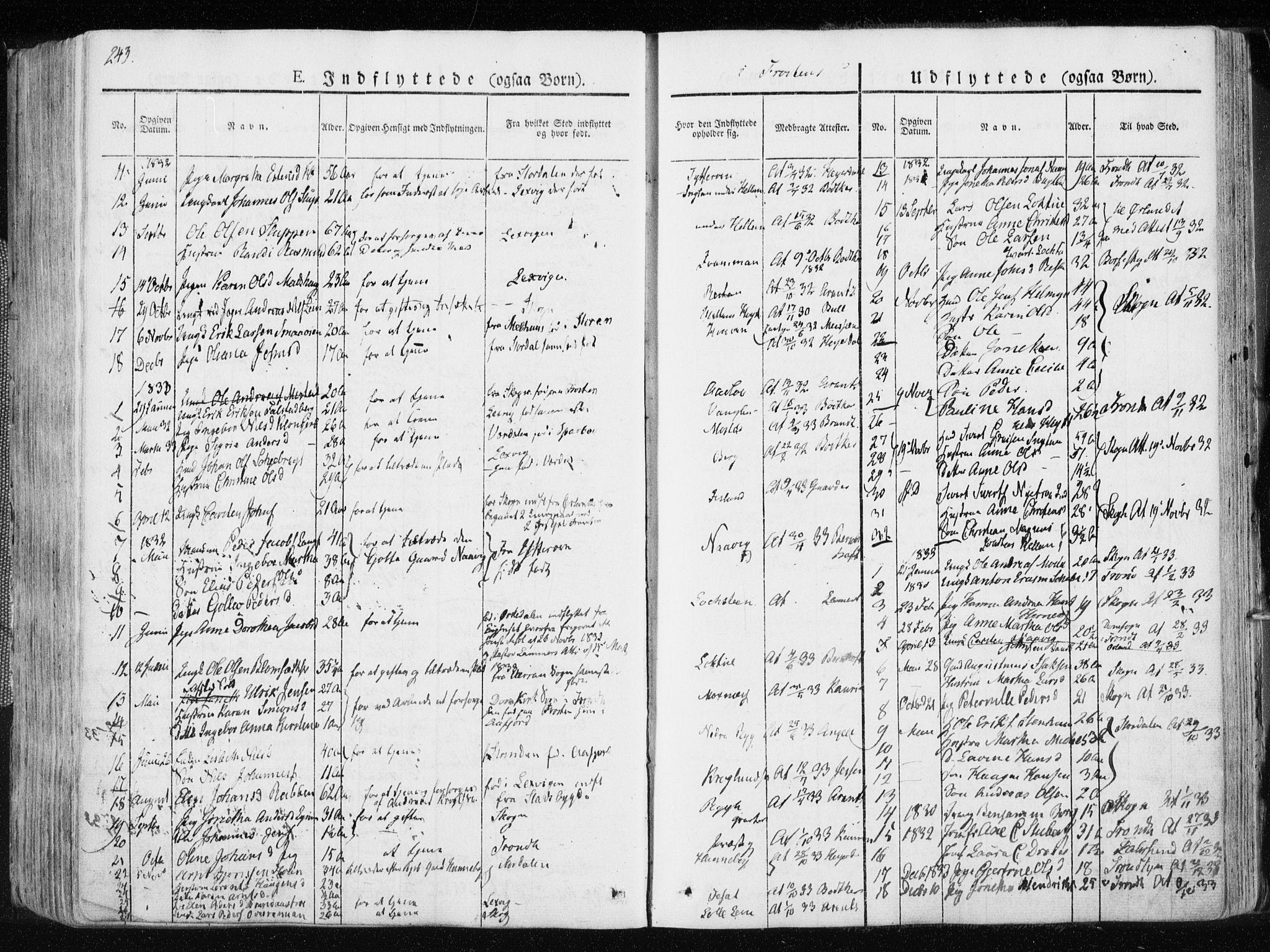SAT, Ministerialprotokoller, klokkerbøker og fødselsregistre - Nord-Trøndelag, 713/L0114: Ministerialbok nr. 713A05, 1827-1839, s. 243