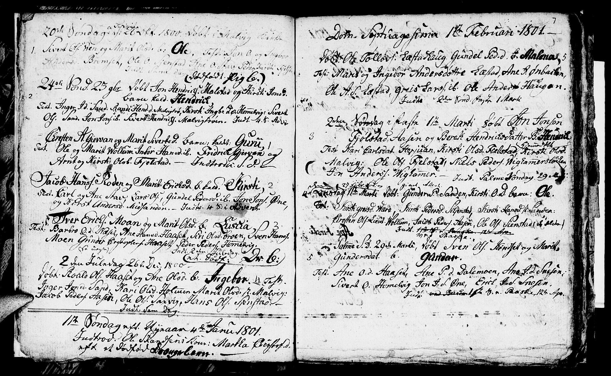 SAT, Ministerialprotokoller, klokkerbøker og fødselsregistre - Sør-Trøndelag, 616/L0419: Klokkerbok nr. 616C02, 1797-1816, s. 7