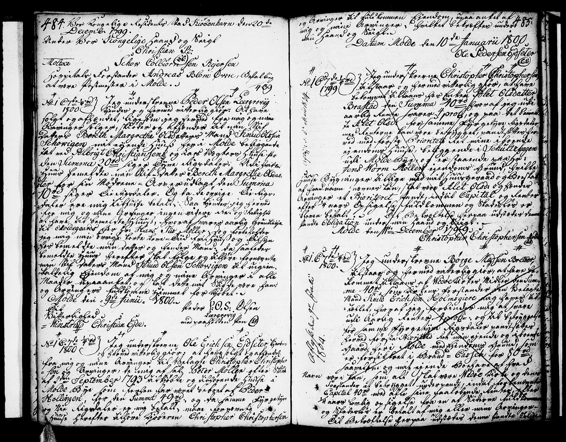 SAT, Molde byfogd, 2C/L0001: Pantebok nr. 1, 1748-1823, s. 484-485