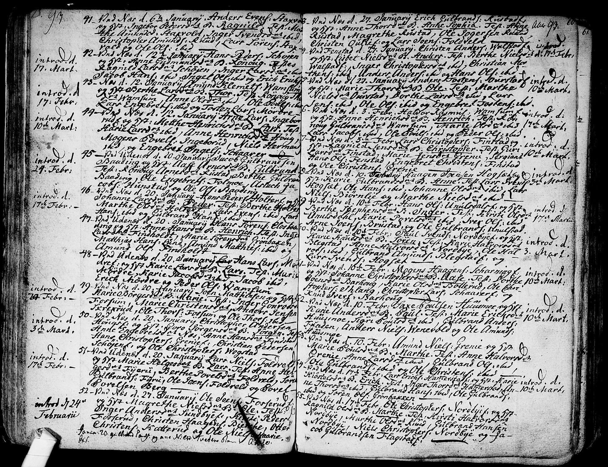 SAO, Nes prestekontor Kirkebøker, F/Fa/L0004: Ministerialbok nr. I 4, 1781-1816, s. 60