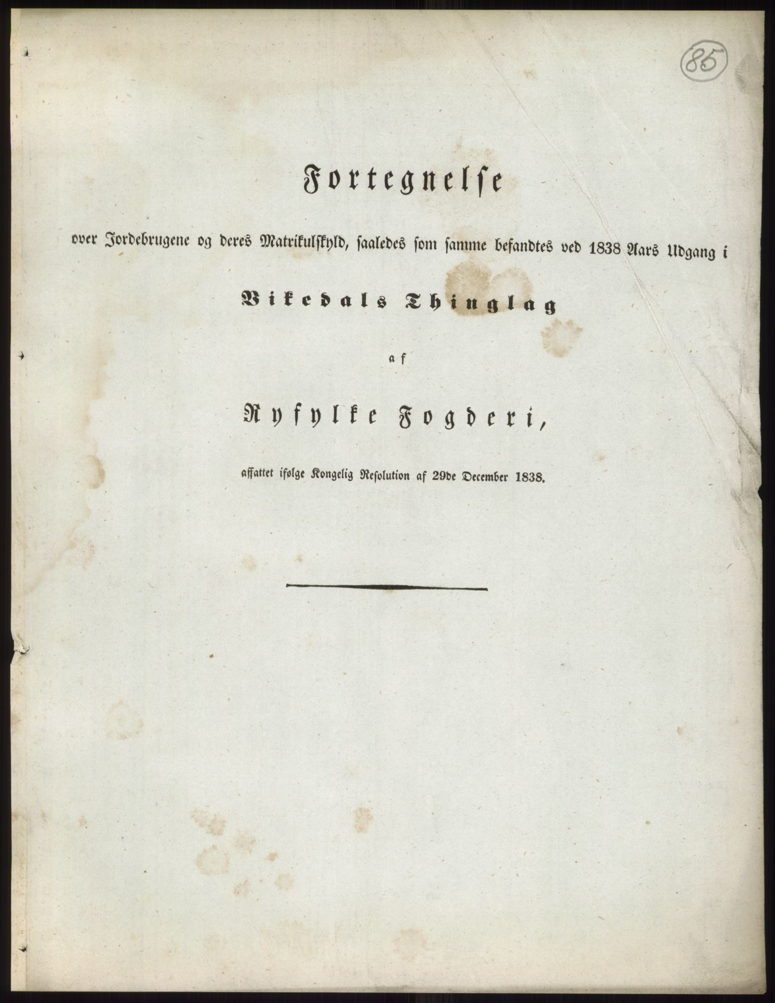 RA, 1838-matrikkelen (publikasjon)*, 1838, s. 85