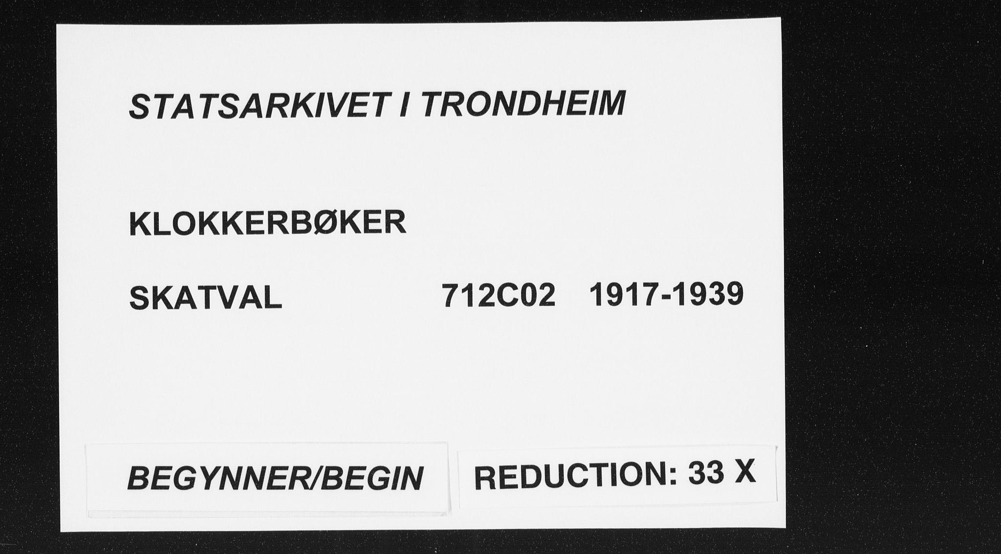 SAT, Ministerialprotokoller, klokkerbøker og fødselsregistre - Nord-Trøndelag, 712/L0104: Klokkerbok nr. 712C02, 1917-1939