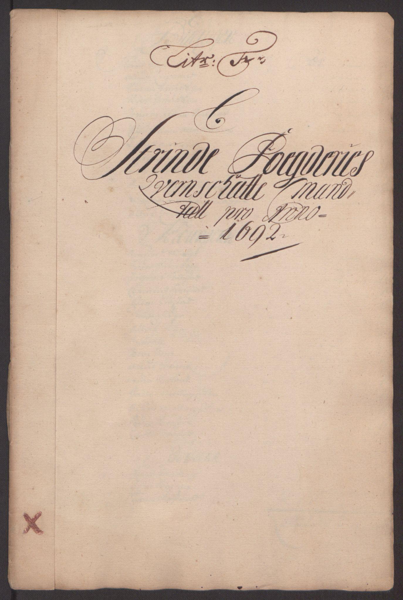RA, Rentekammeret inntil 1814, Reviderte regnskaper, Fogderegnskap, R61/L4103: Fogderegnskap Strinda og Selbu, 1691-1692, s. 292