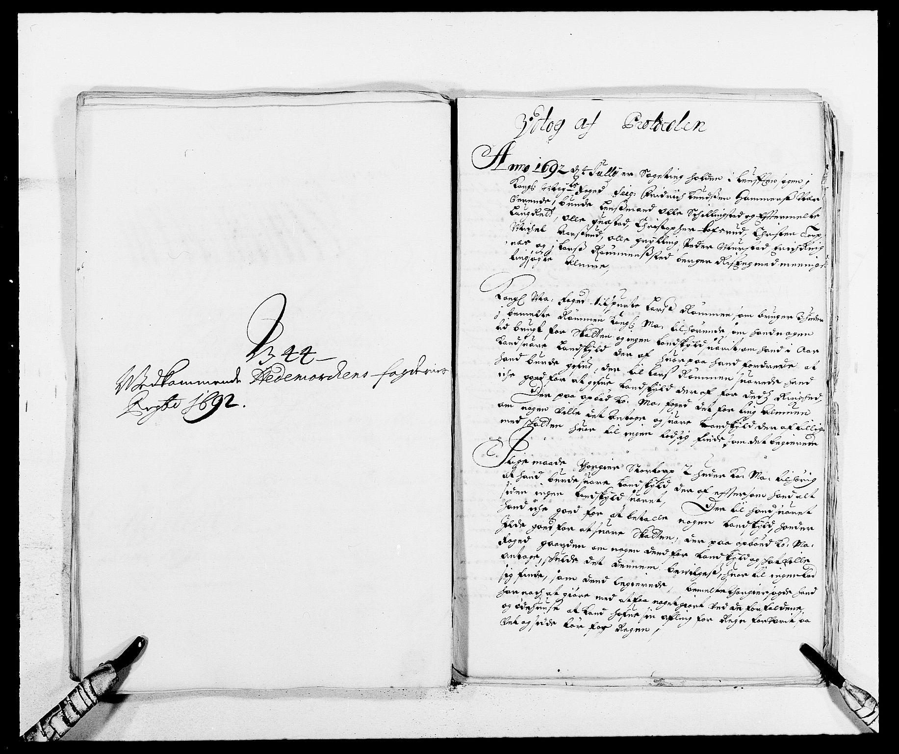 RA, Rentekammeret inntil 1814, Reviderte regnskaper, Fogderegnskap, R16/L1032: Fogderegnskap Hedmark, 1689-1692, s. 150