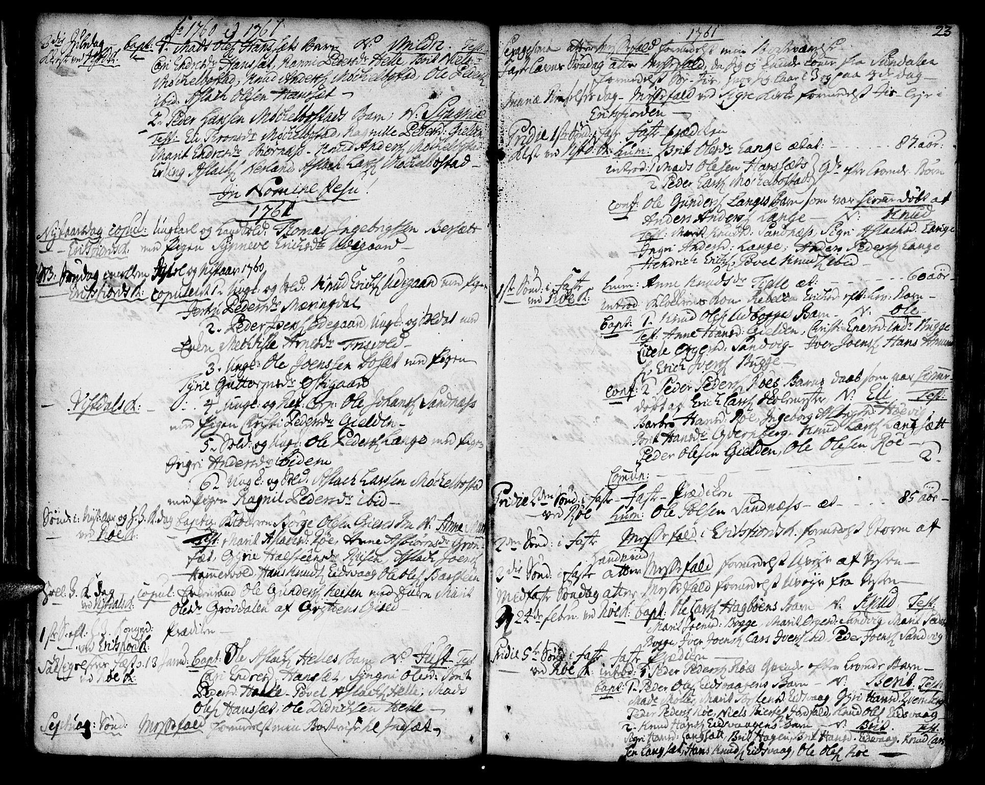 SAT, Ministerialprotokoller, klokkerbøker og fødselsregistre - Møre og Romsdal, 551/L0621: Ministerialbok nr. 551A01, 1757-1803, s. 23