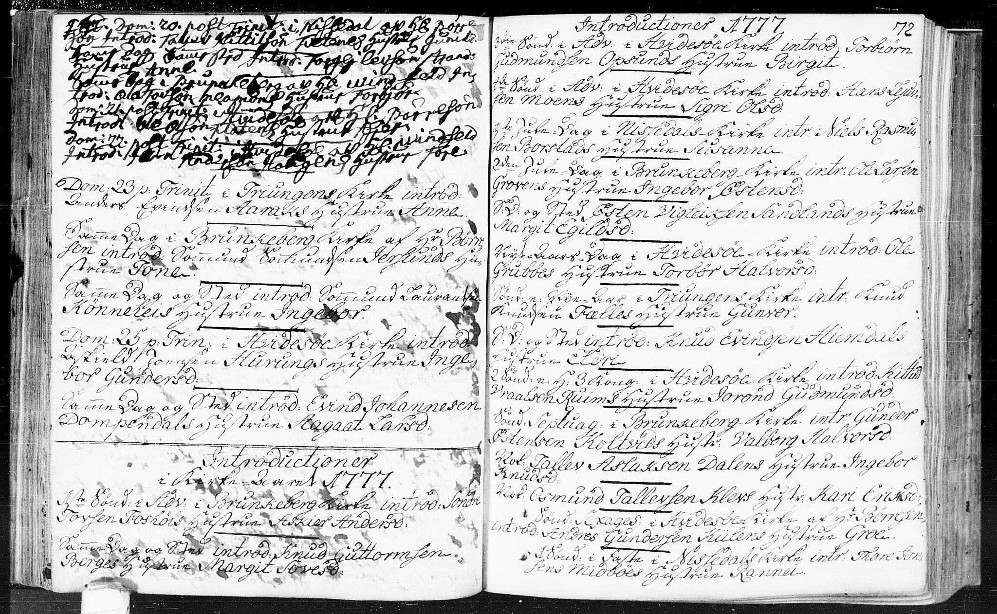 SAKO, Kviteseid kirkebøker, F/Fa/L0002: Ministerialbok nr. I 2, 1773-1786, s. 72