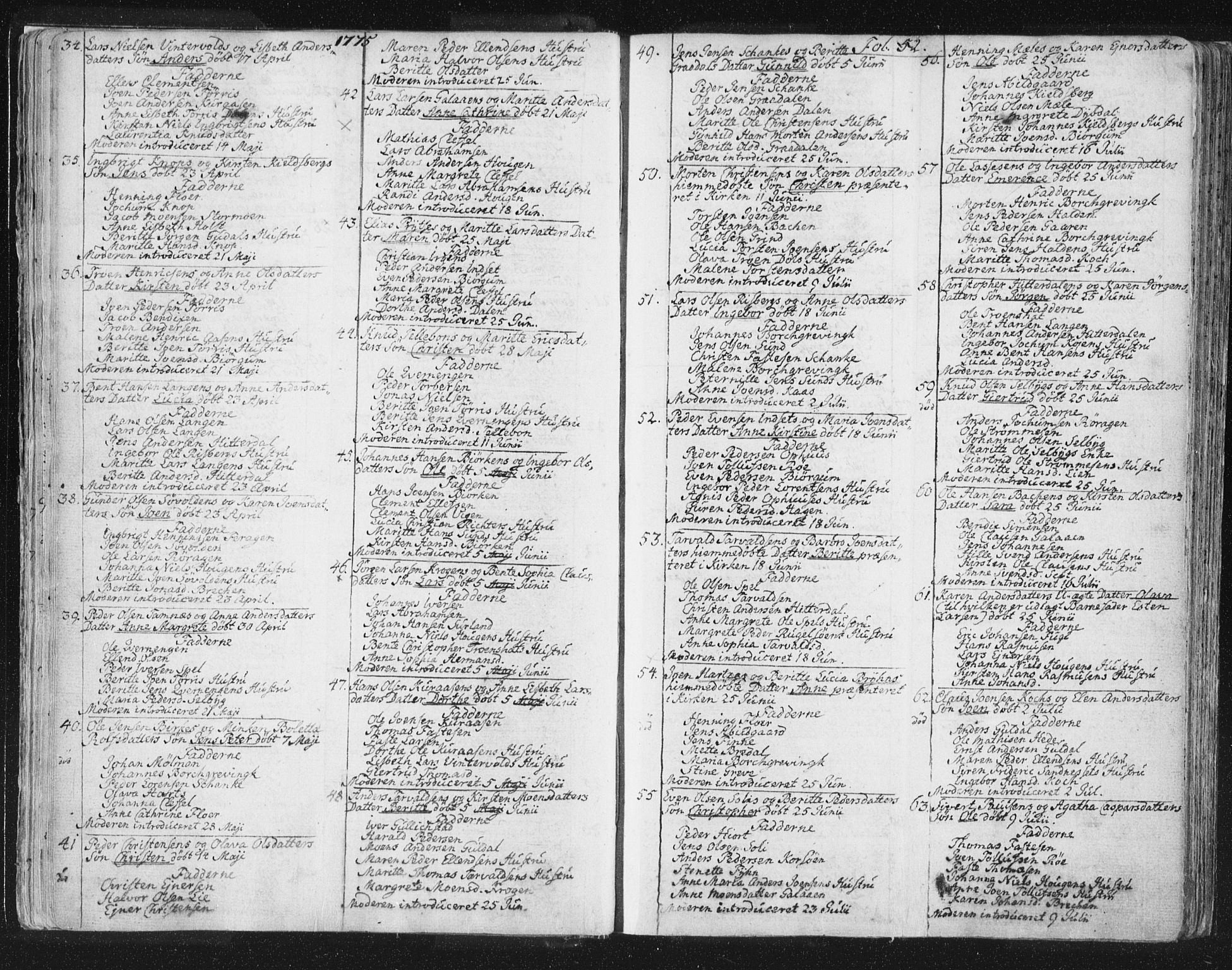 SAT, Ministerialprotokoller, klokkerbøker og fødselsregistre - Sør-Trøndelag, 681/L0926: Ministerialbok nr. 681A04, 1767-1797, s. 52