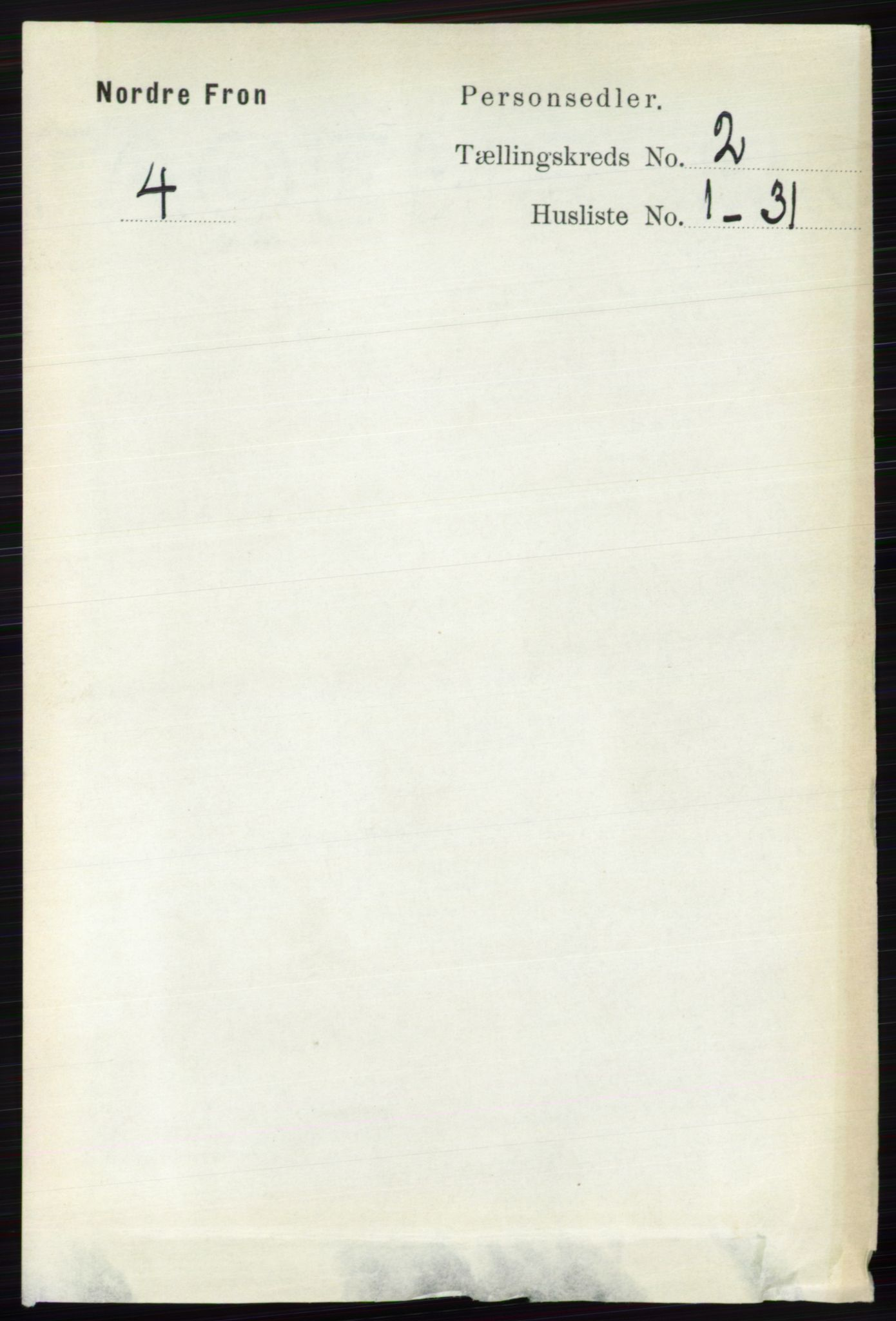 RA, Folketelling 1891 for 0518 Nord-Fron herred, 1891, s. 340