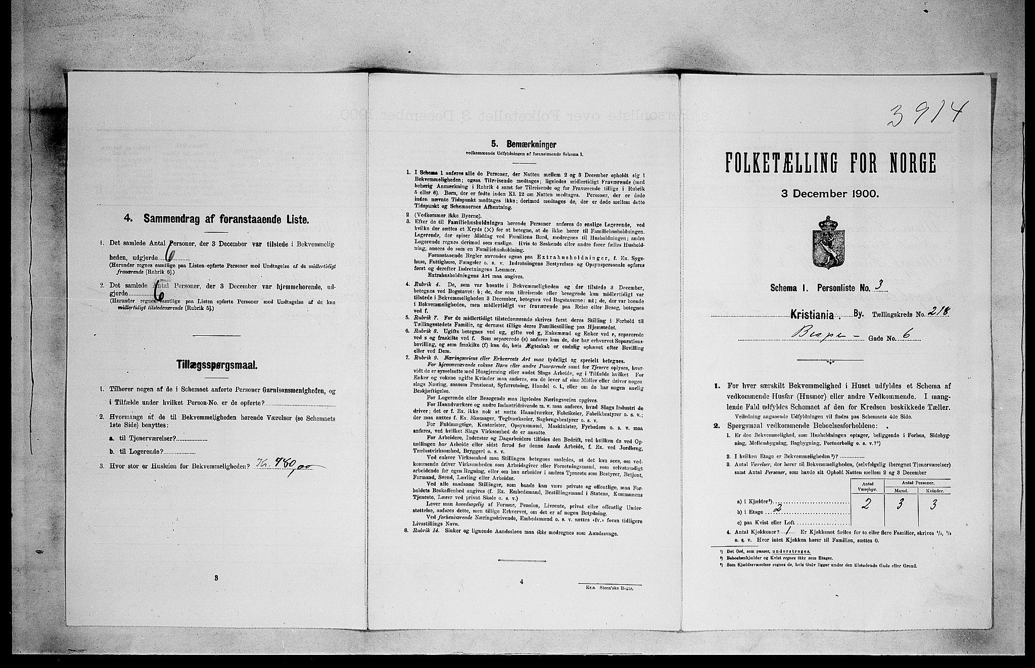 SAO, Folketelling 1900 for 0301 Kristiania kjøpstad, 1900, s. 4925