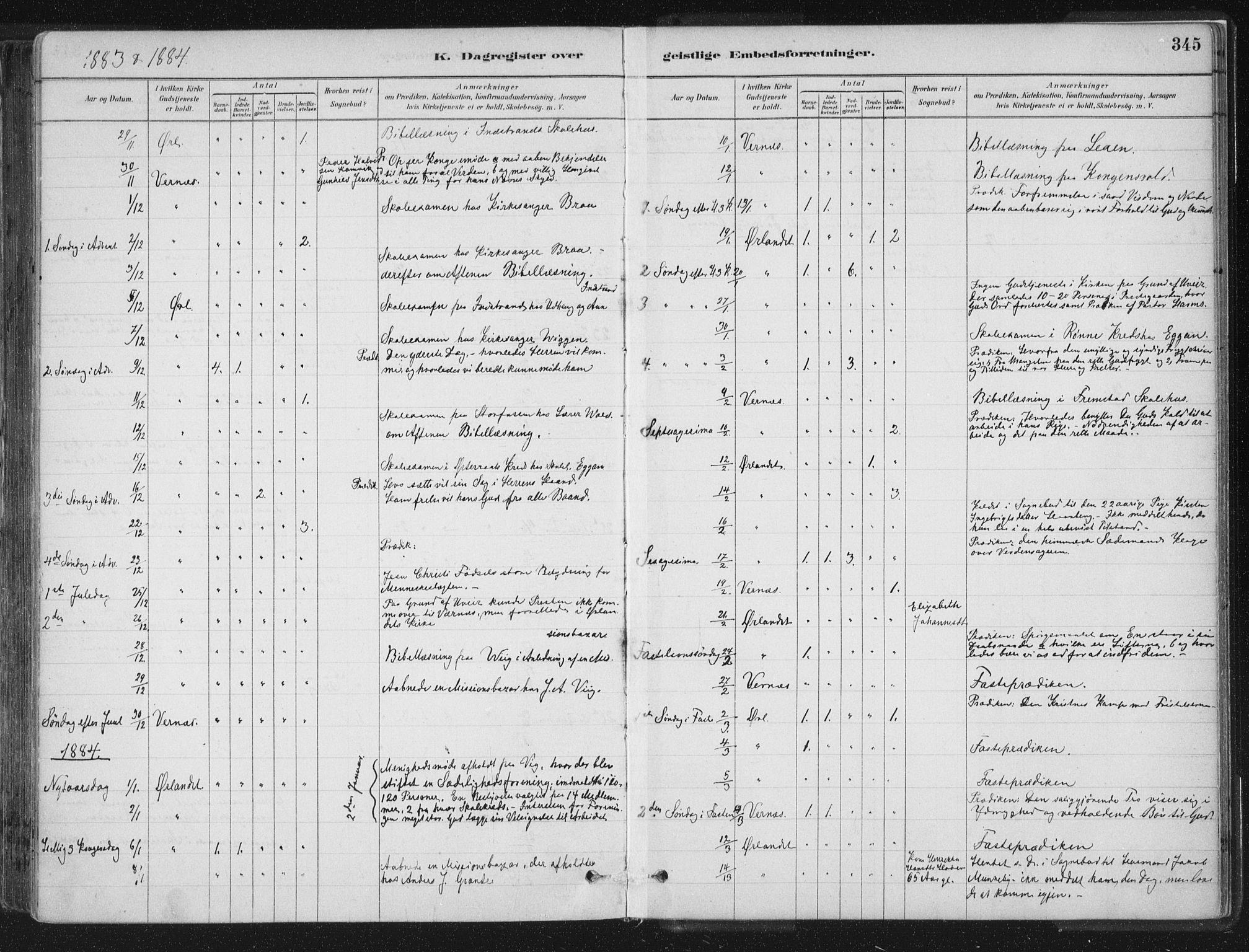 SAT, Ministerialprotokoller, klokkerbøker og fødselsregistre - Sør-Trøndelag, 659/L0739: Ministerialbok nr. 659A09, 1879-1893, s. 345