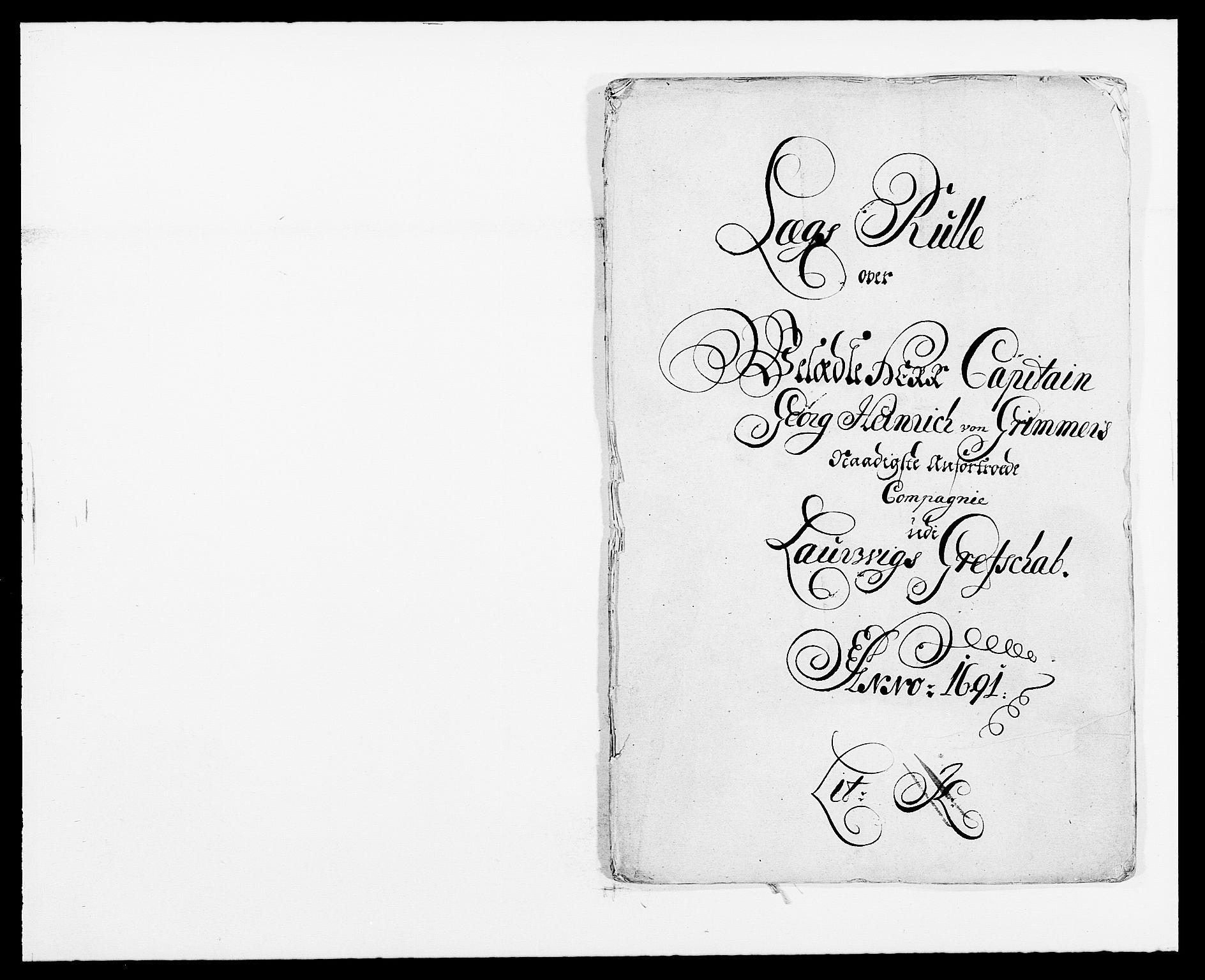 RA, Rentekammeret inntil 1814, Reviderte regnskaper, Fogderegnskap, R33/L1972: Fogderegnskap Larvik grevskap, 1690-1691, s. 301