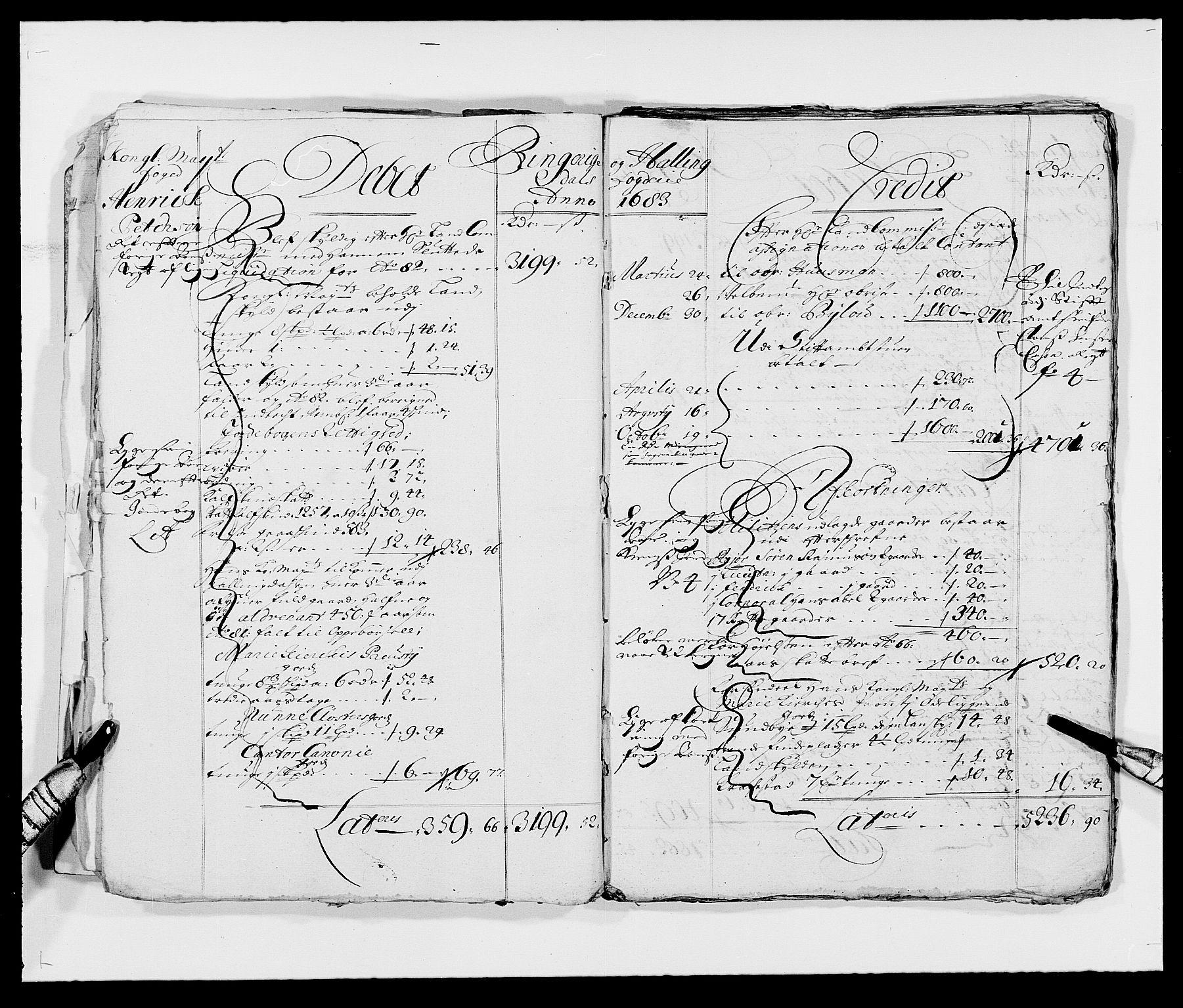 RA, Rentekammeret inntil 1814, Reviderte regnskaper, Fogderegnskap, R21/L1445: Fogderegnskap Ringerike og Hallingdal, 1681-1689, s. 9