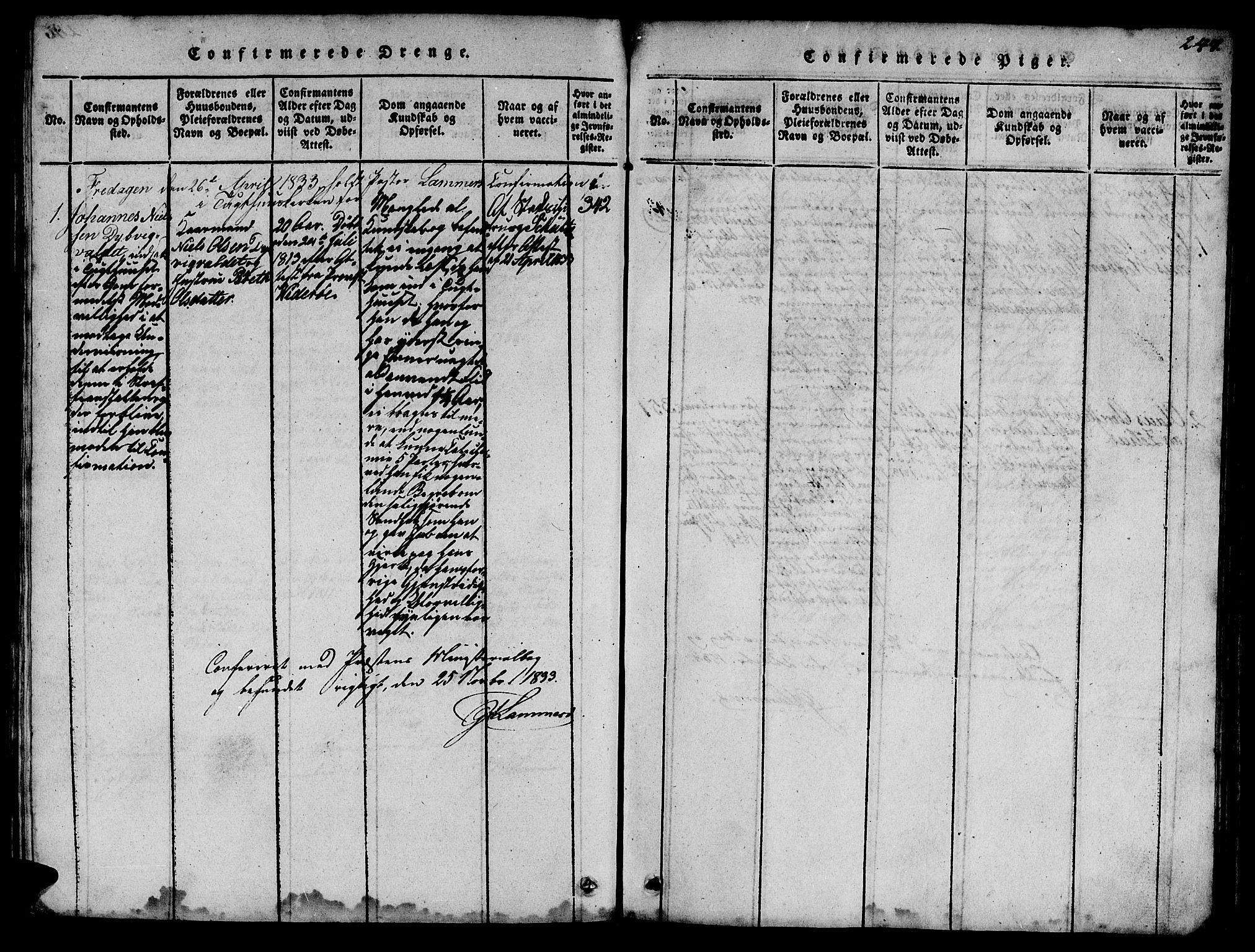 SAT, Ministerialprotokoller, klokkerbøker og fødselsregistre - Sør-Trøndelag, 623/L0478: Klokkerbok nr. 623C01, 1815-1873, s. 247