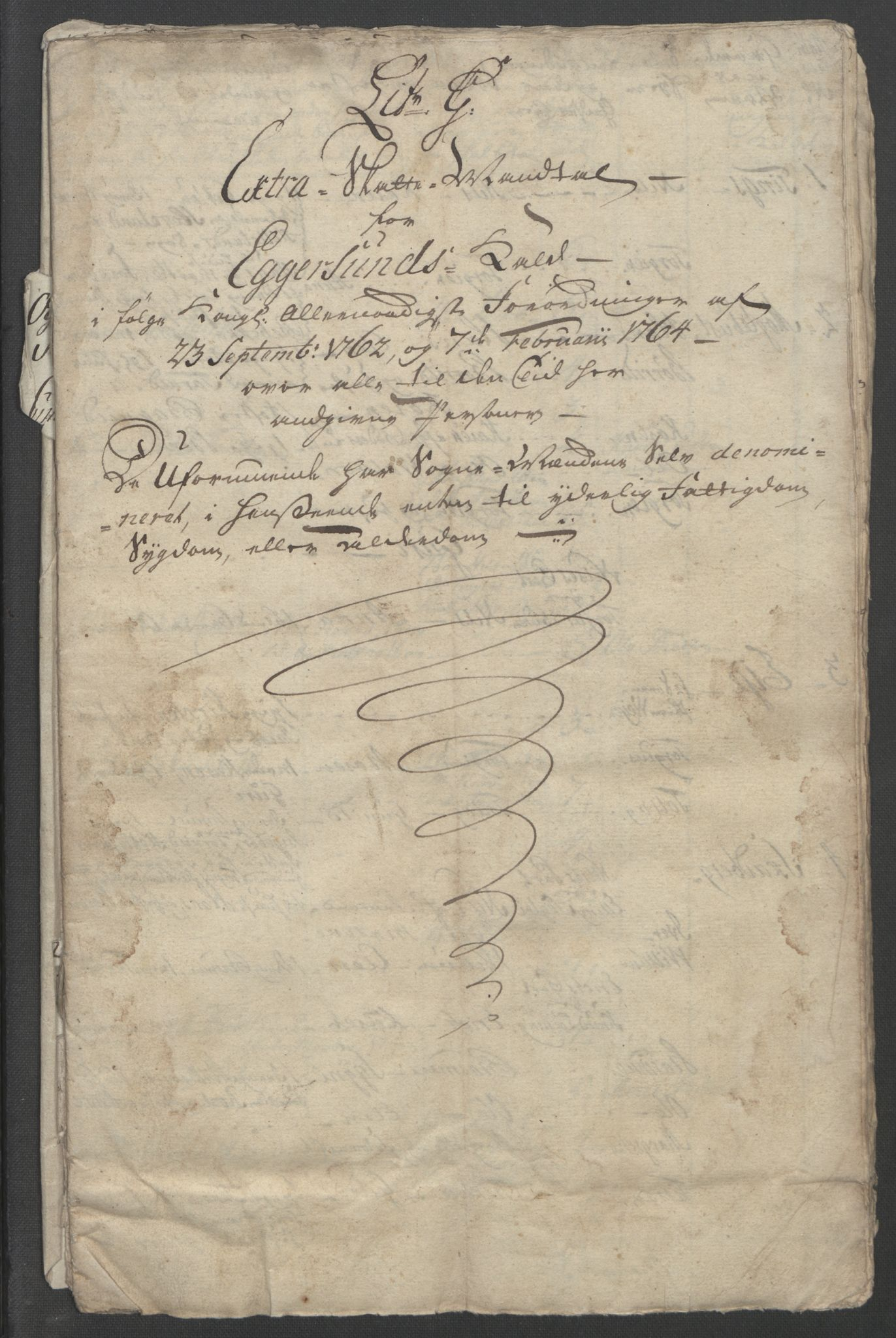 RA, Rentekammeret inntil 1814, Reviderte regnskaper, Fogderegnskap, R46/L2835: Ekstraskatten Jæren og Dalane, 1762-1764, s. 250